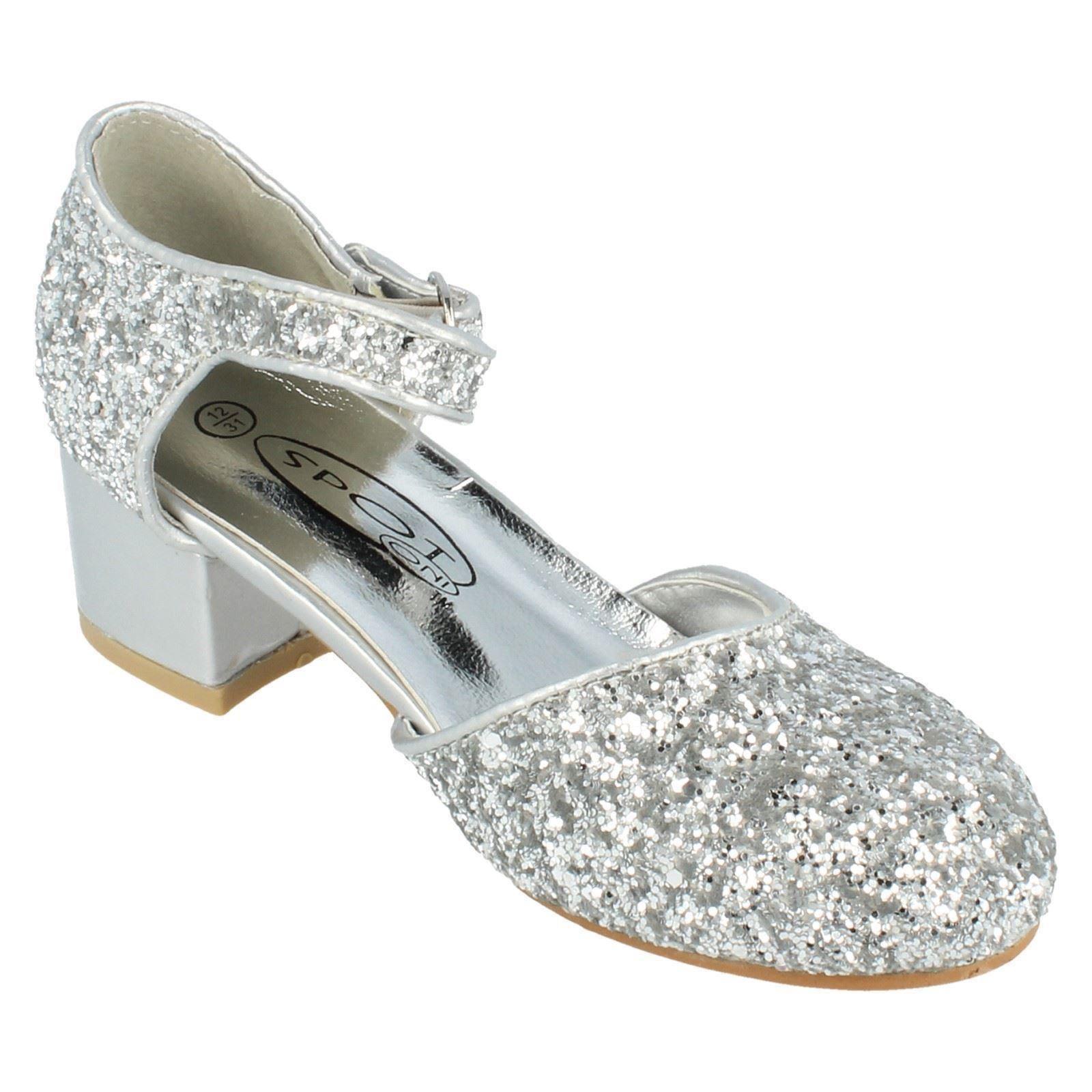 Girls Spot On Glitter Court Shoe The Style H3065 ~ N