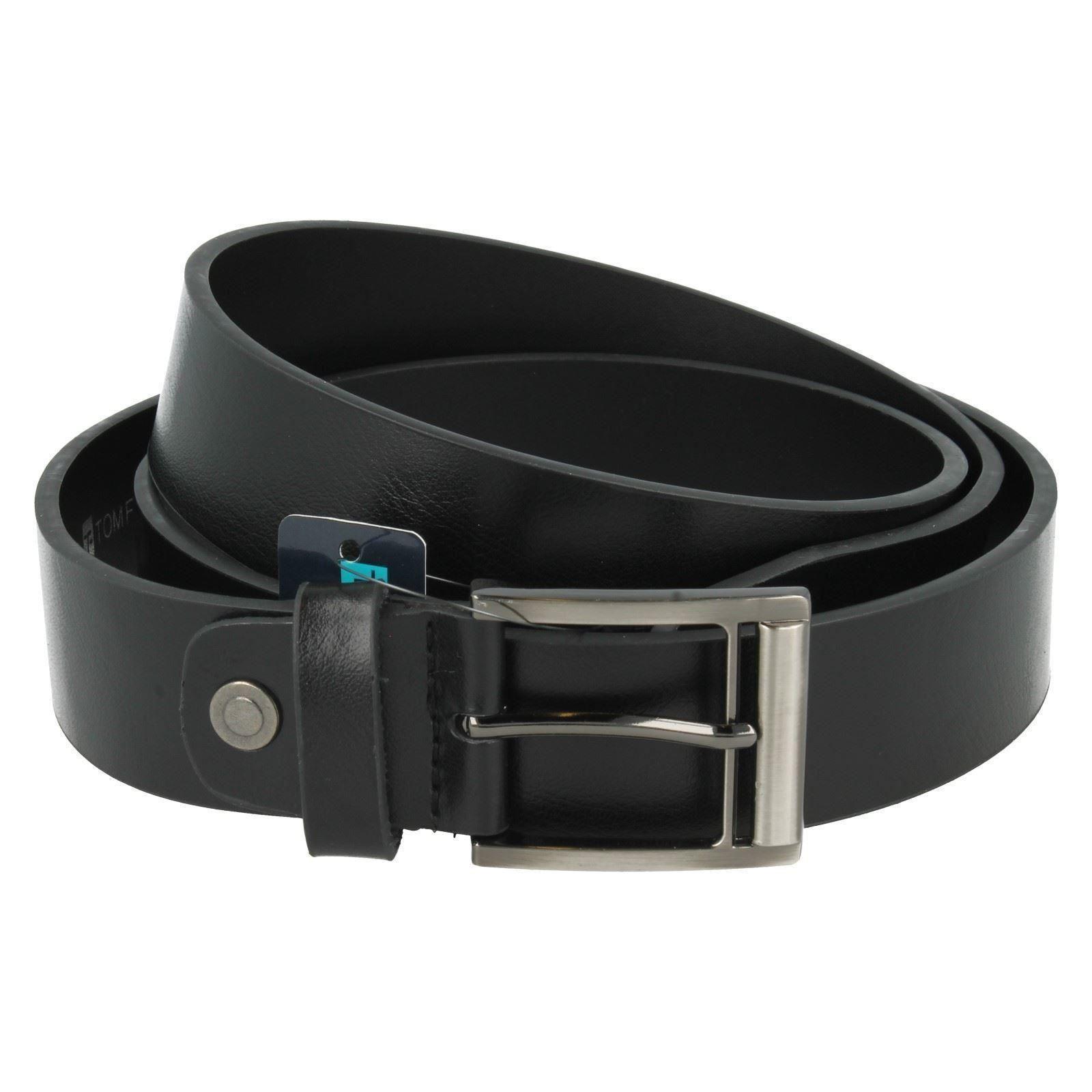 Tomfranks-Gamuza-Negra-para-Hombre-Cinturon-De-Cuero-BL109