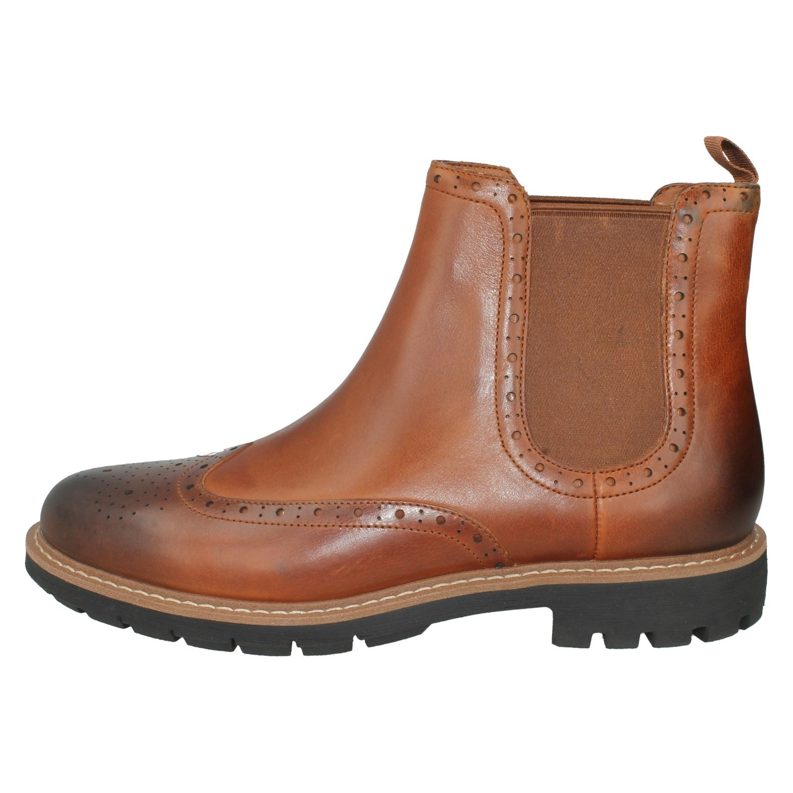 Mens Clarks Slip Boots On Leather Chelsea Ankle Boots Slip The Style - Batcombe Top 1f8bec