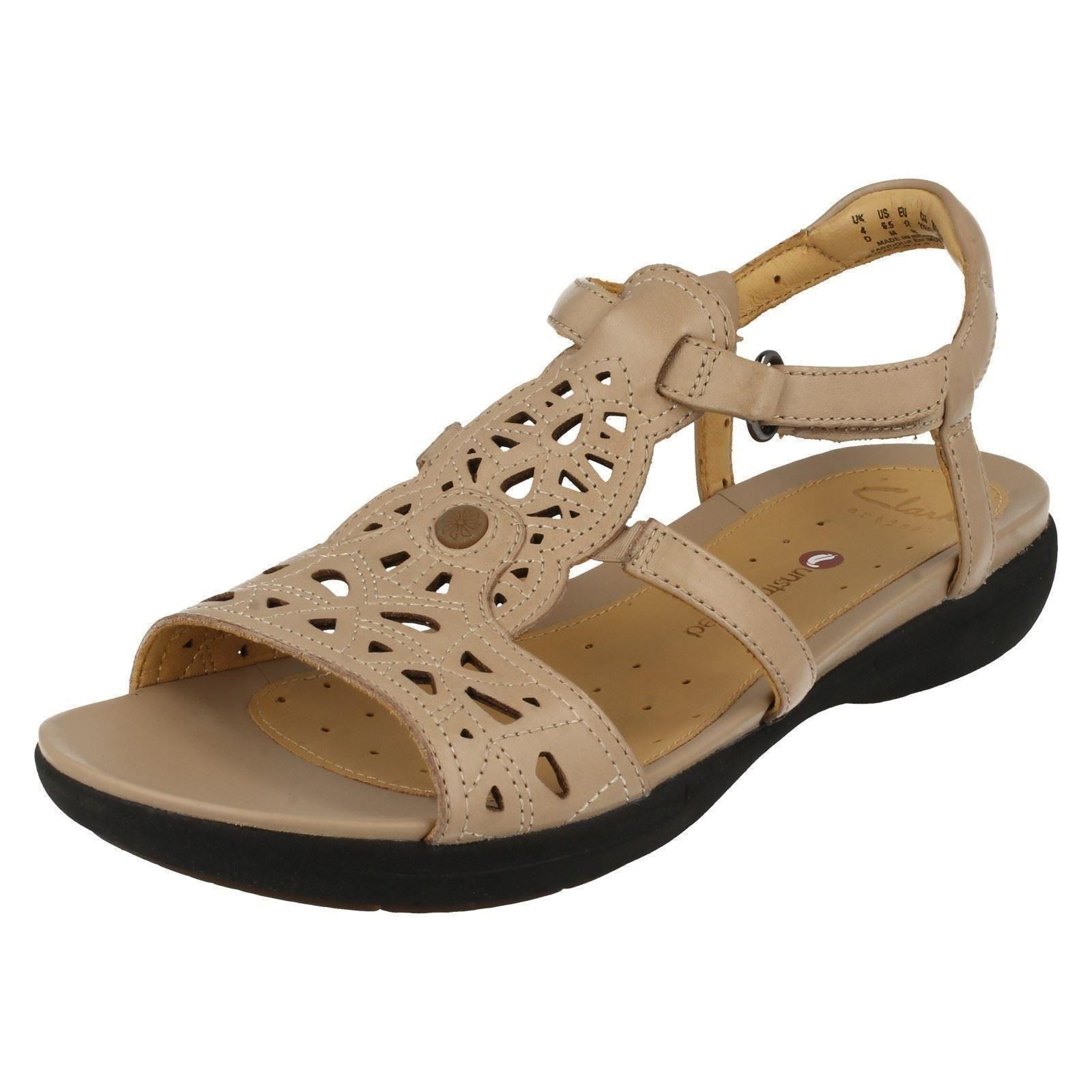 1500e3a73912 Ladies Clarks Unstructured Casual Sandals Un Valencia 7 UK Sand D