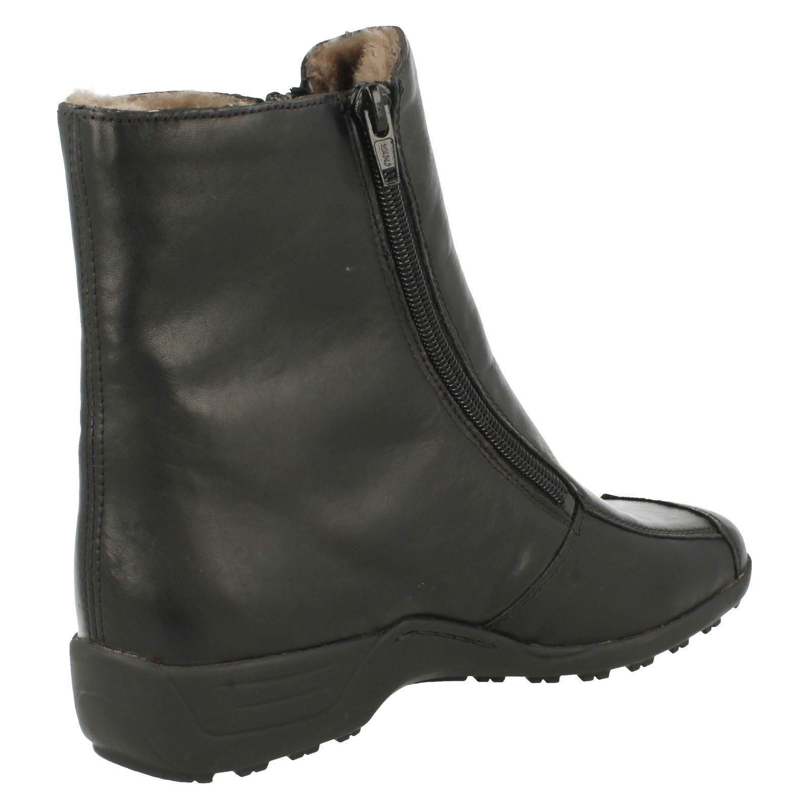 Ladies Remonte Zip Lambskin Fastened Genuine Lambskin Zip Boots D0575 Style ~ K 9c3403