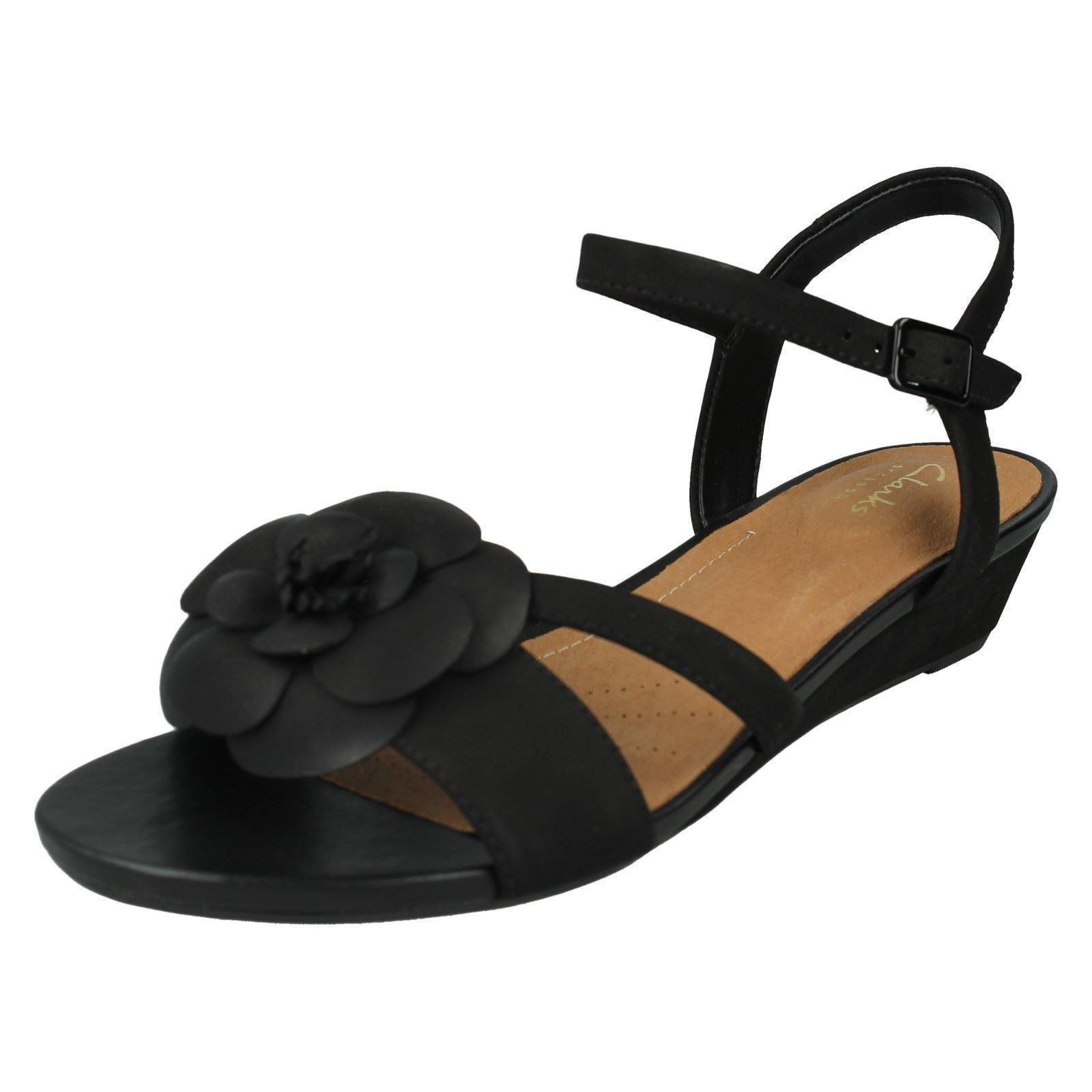 b64283fba54 Women s Clarks Parram Stella Strap Sandals in Black UK 4.5   EU 37 1 ...