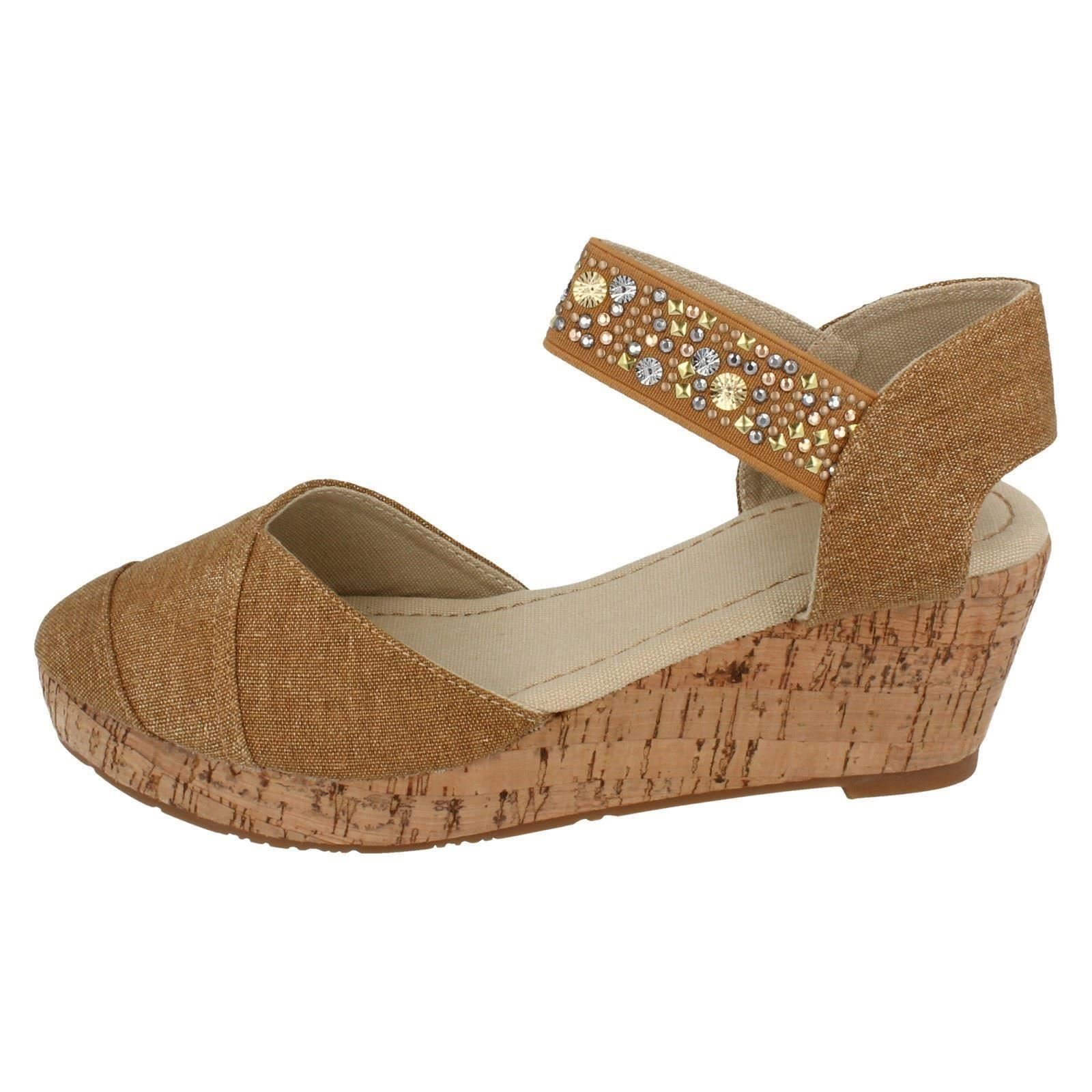 Girls Spot On Wedge Sandals Style - H6022 - D
