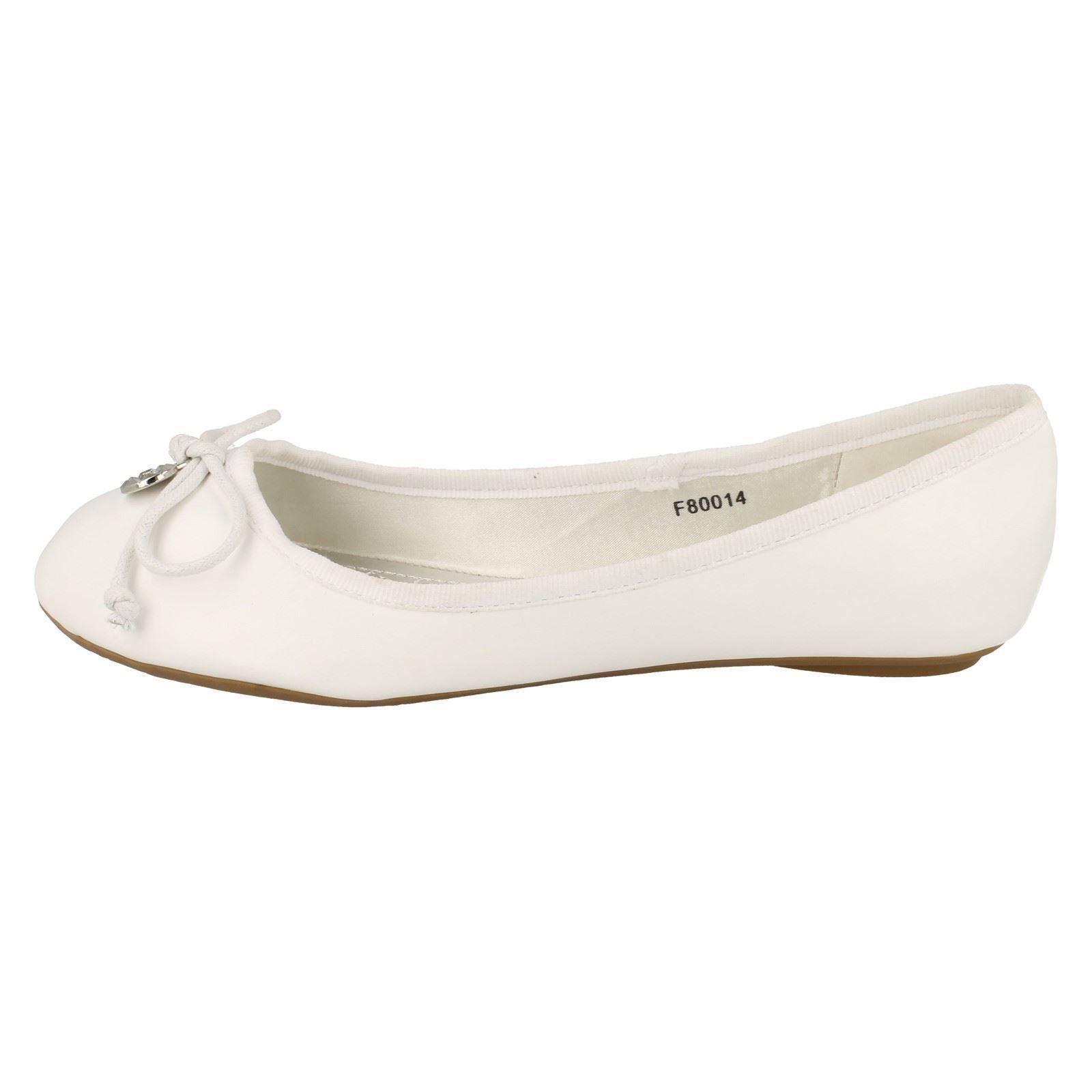 Señoras de punto en Ballerina Zapatos Planos-f80014