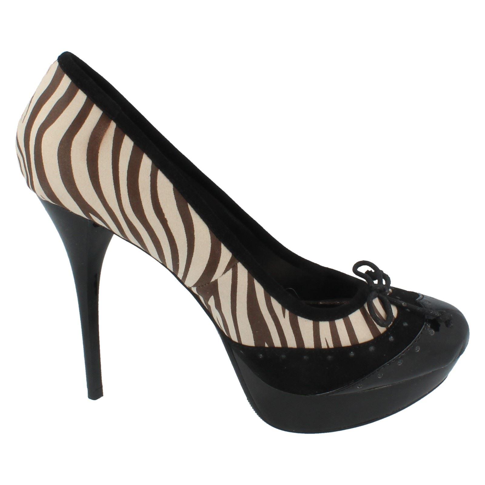 Señoras punto en Tribunal Zapatos Estilo F9490 ~ N