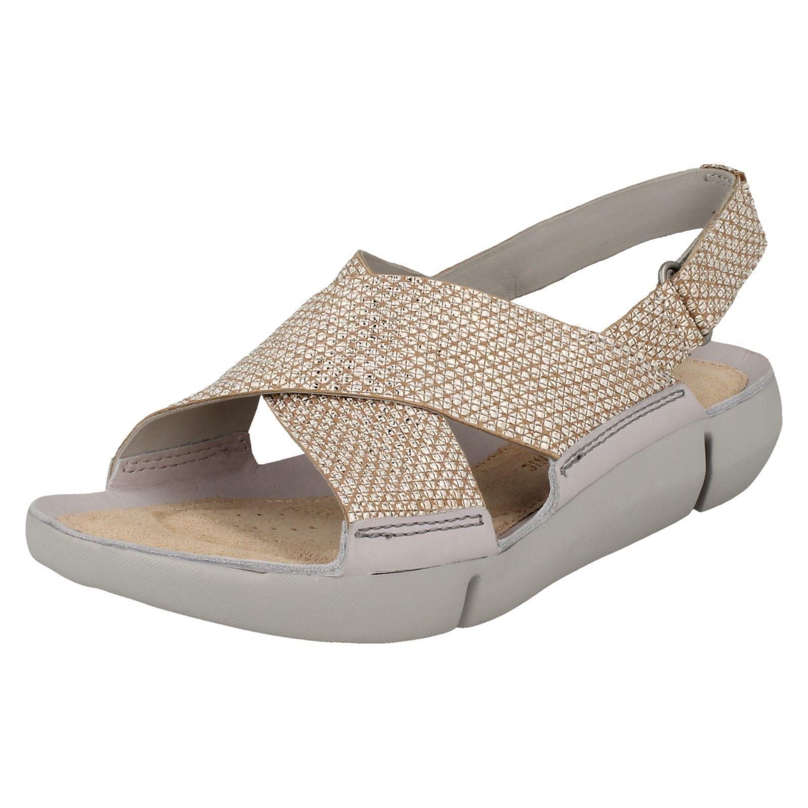 88a12ac71d83b Women s Clarks Tri Chloe Strap Sandals in Silver UK 6.5   EU 40