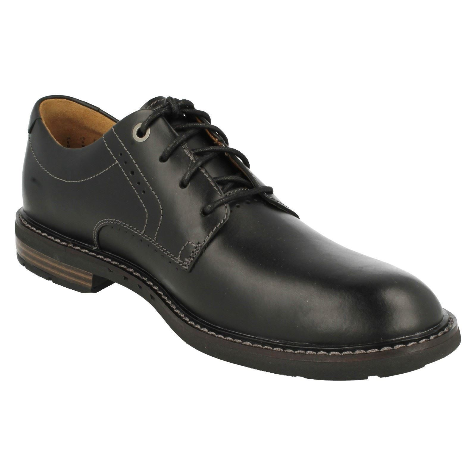 Herren Lace Clarks Formal Lace Herren Up UnstructuROT Schuhes Unelott Plain 82aecf