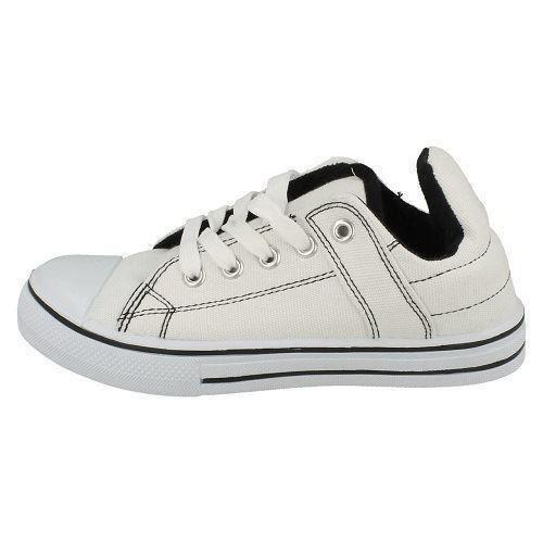 Chicos Punto En Lona Con Cordones Zapatos Informales X0006 estilo ~ K