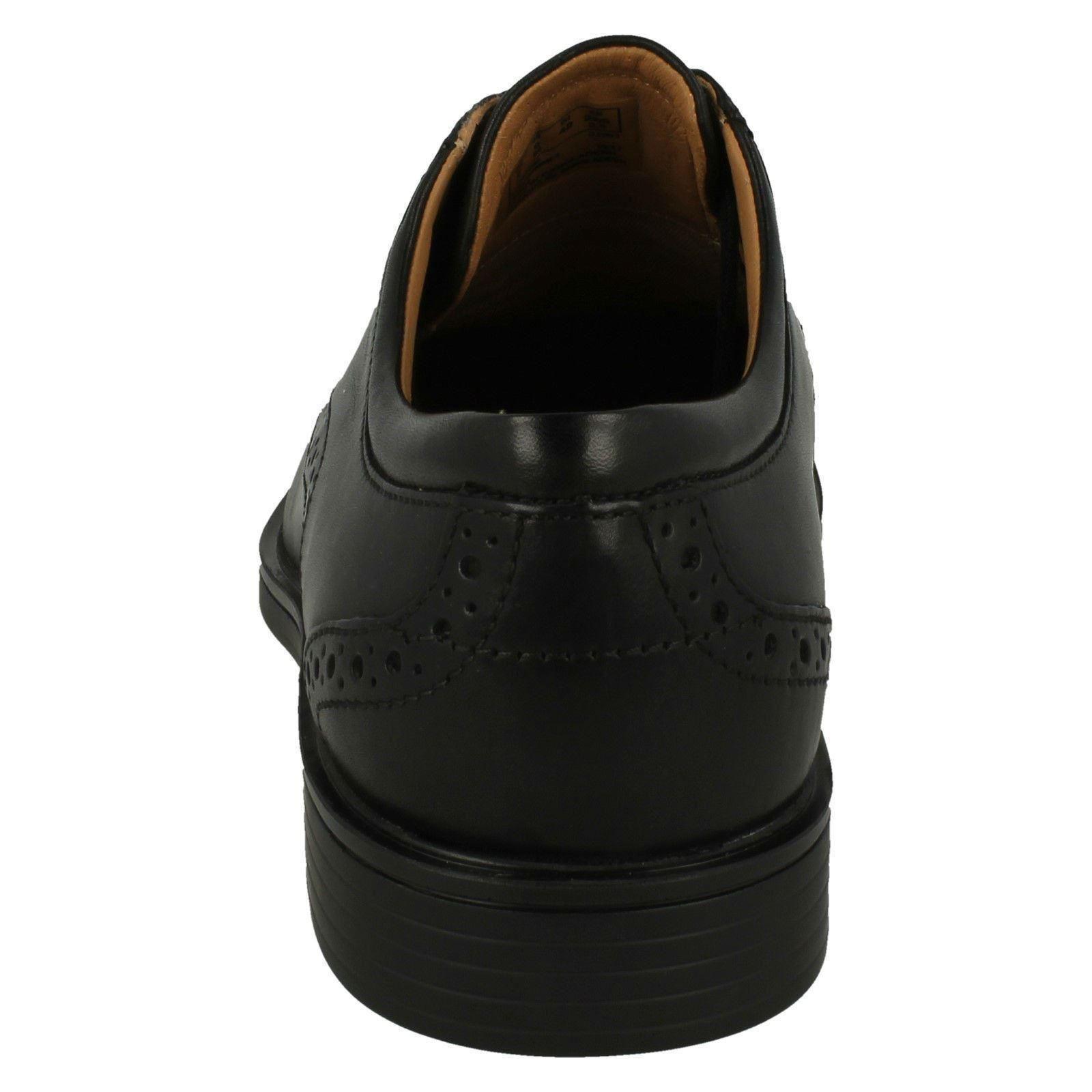 Leather di Un Clarks Men's Smart Wing Unstructured Black Aldric Brogue Shoes vPwSxUOqf