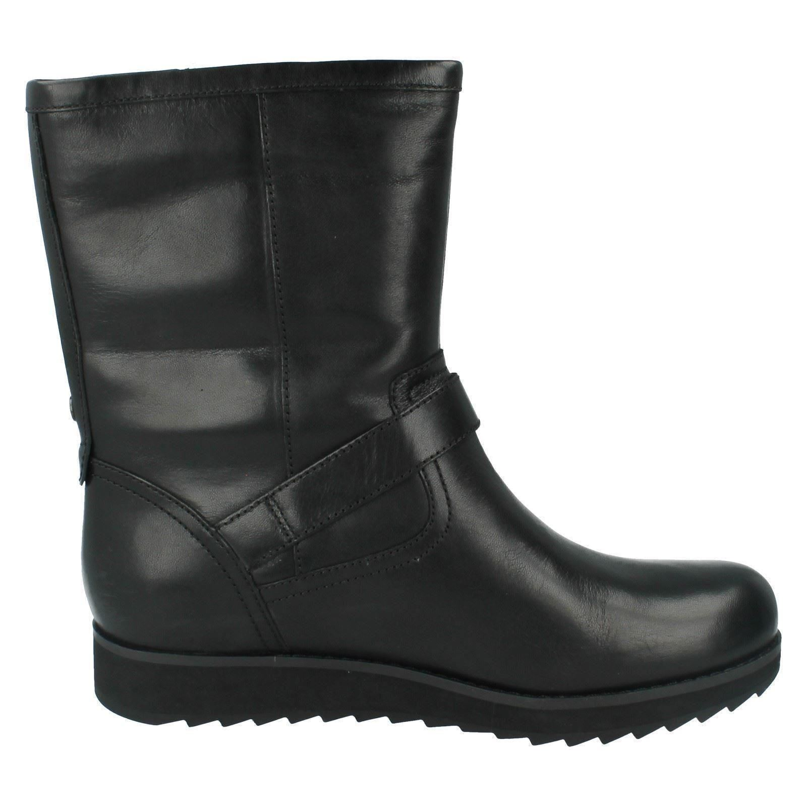 Trish Black The Leather Ladies Clarks Boots Style Ankle Minx qpwf0Yz