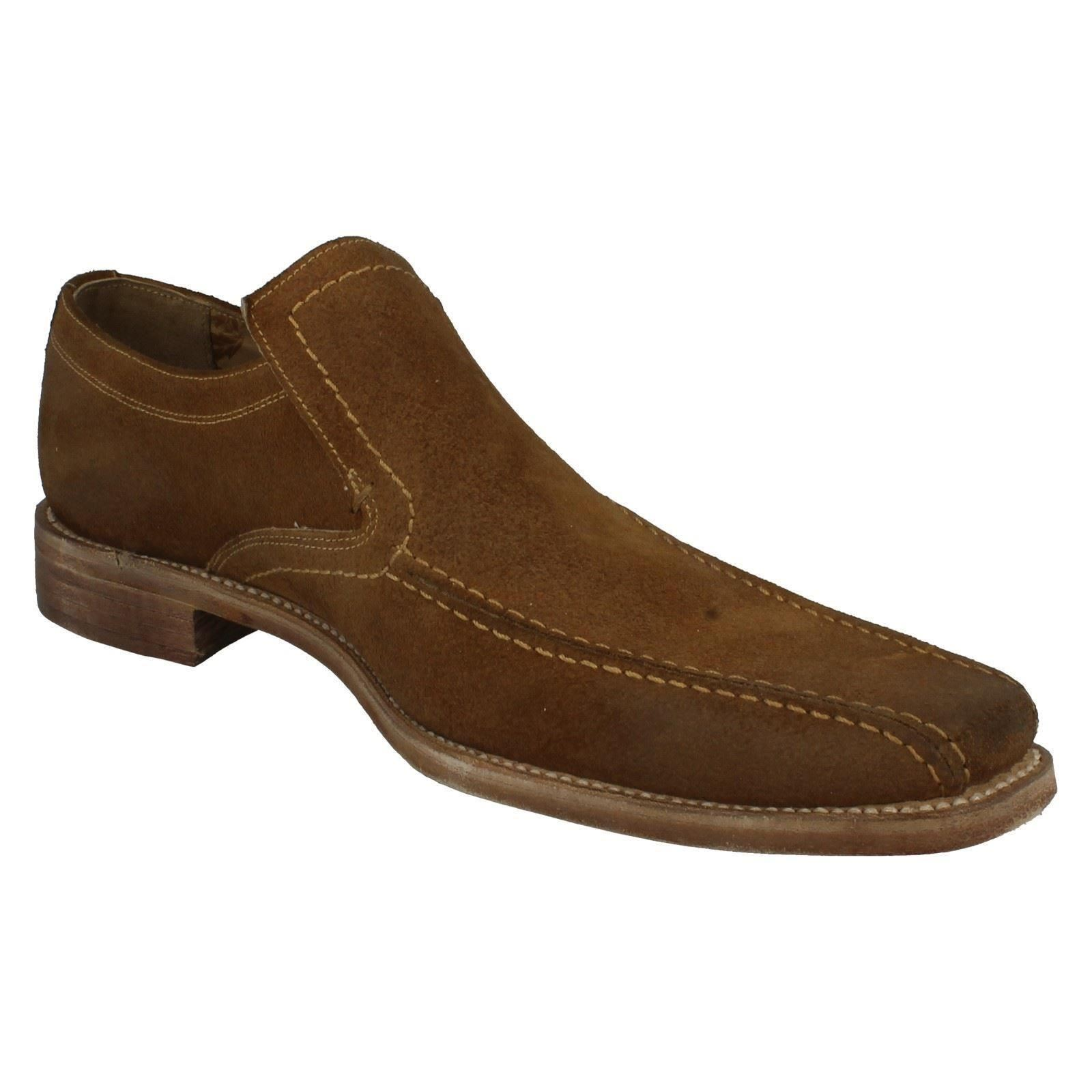 Uomo Loake Formal Distressed Suede - Schuhes Fitting F Style - Suede Leon 0e338a