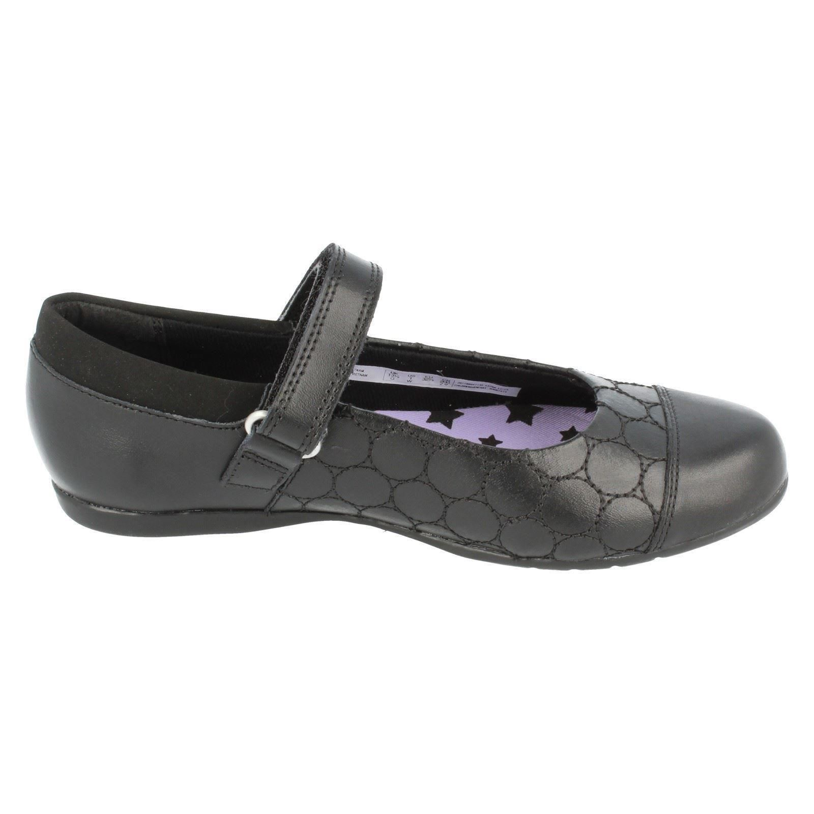 Girls Clarks Hook And Loop Fastening Shoe The Styel - Dance Buzz Jnr