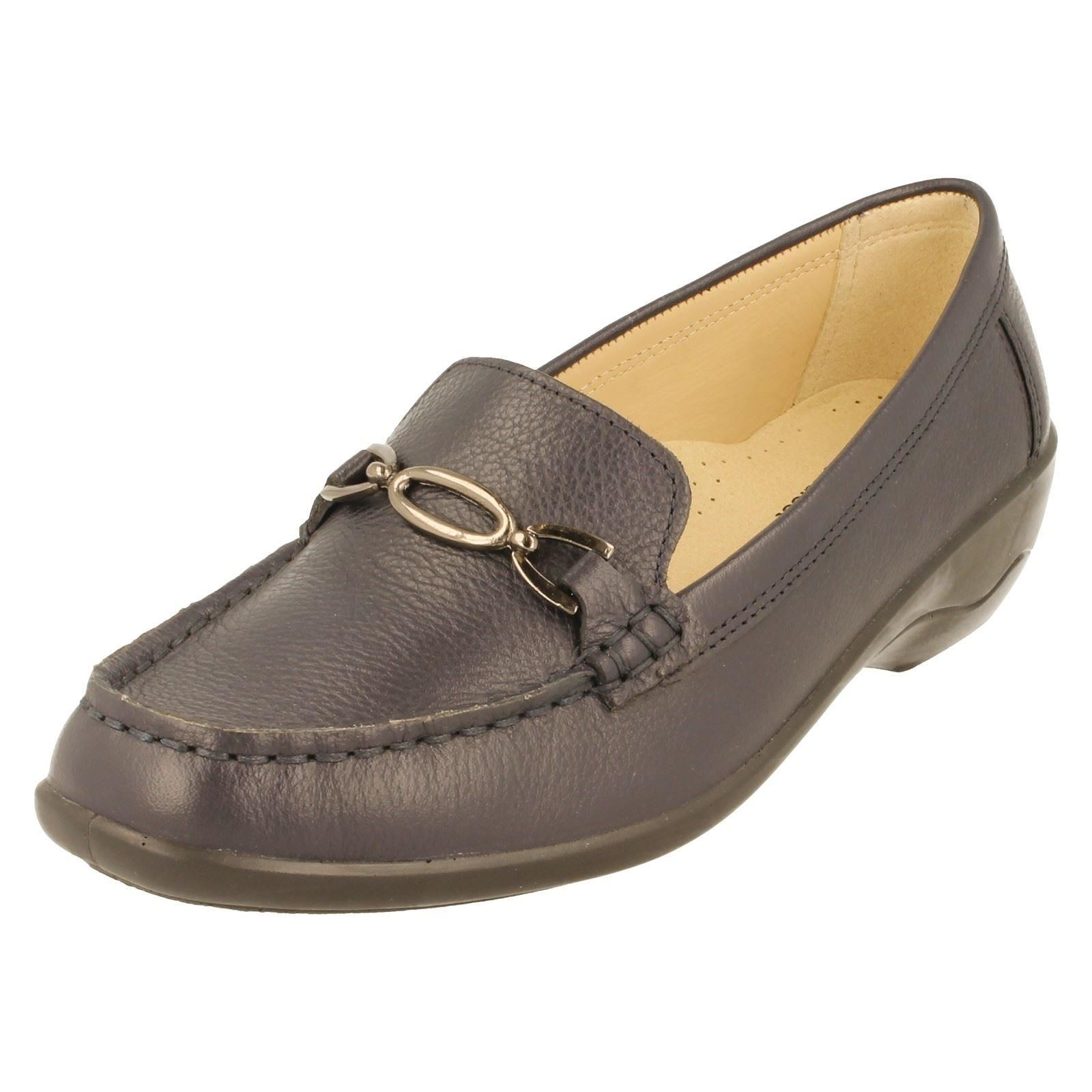 3672c6c5aa4 Ladies Padders Ellen Leather Slip Shoes EE Wide Width Fitting UK 4 Navy.  About this product. Picture 1 of 11  Picture 2 of 11 ...