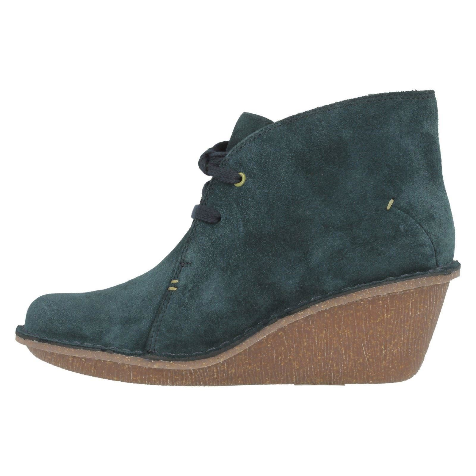 clarks leather suede wedge ankle boots marsden
