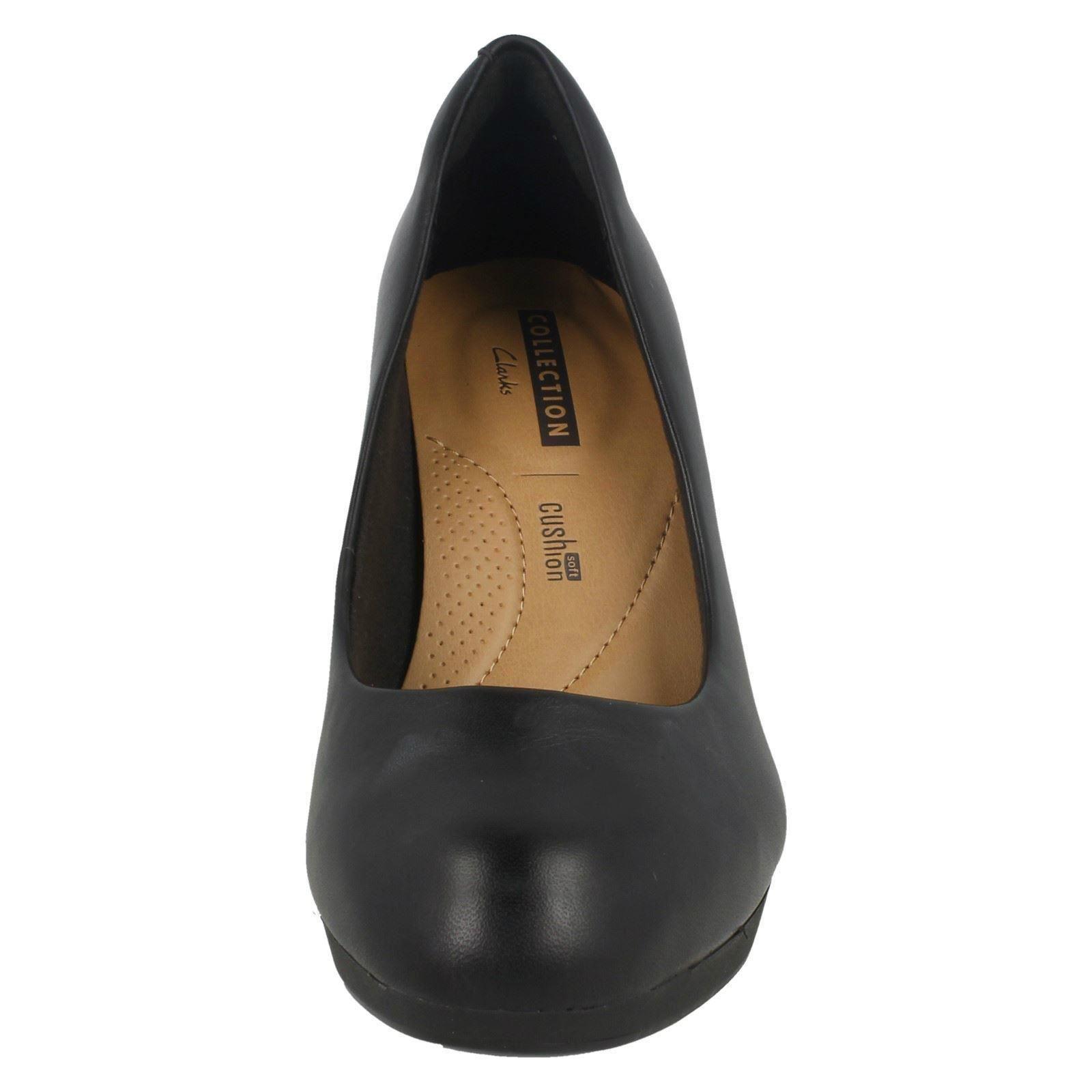 Damas Clarks Zapatos Zapatos Zapatos Taco inteligente Tribunal Estilo-Adriel viola fe32c1