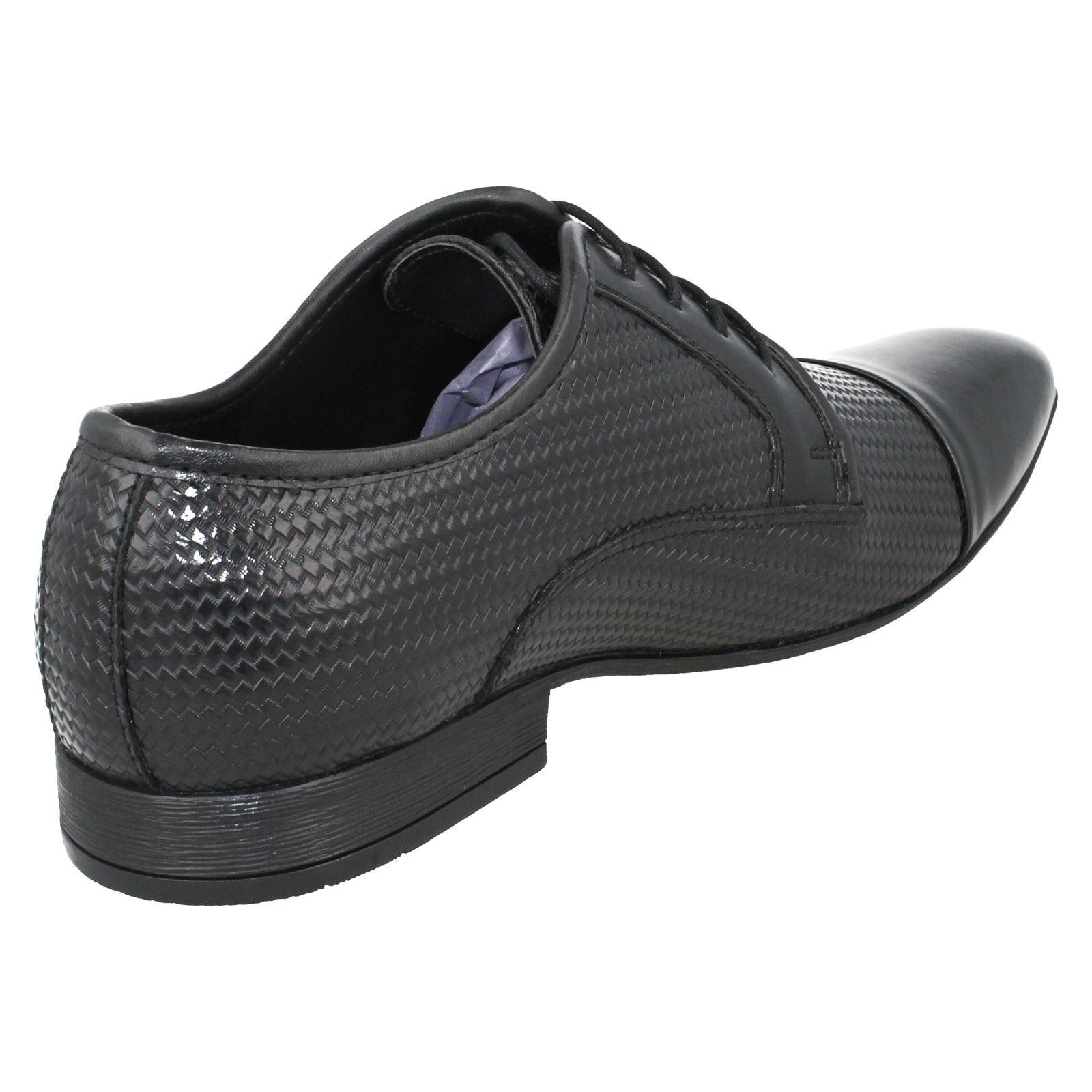 Mens Lambretta Plain Toe Weave Pattern Smart Shoes 21102