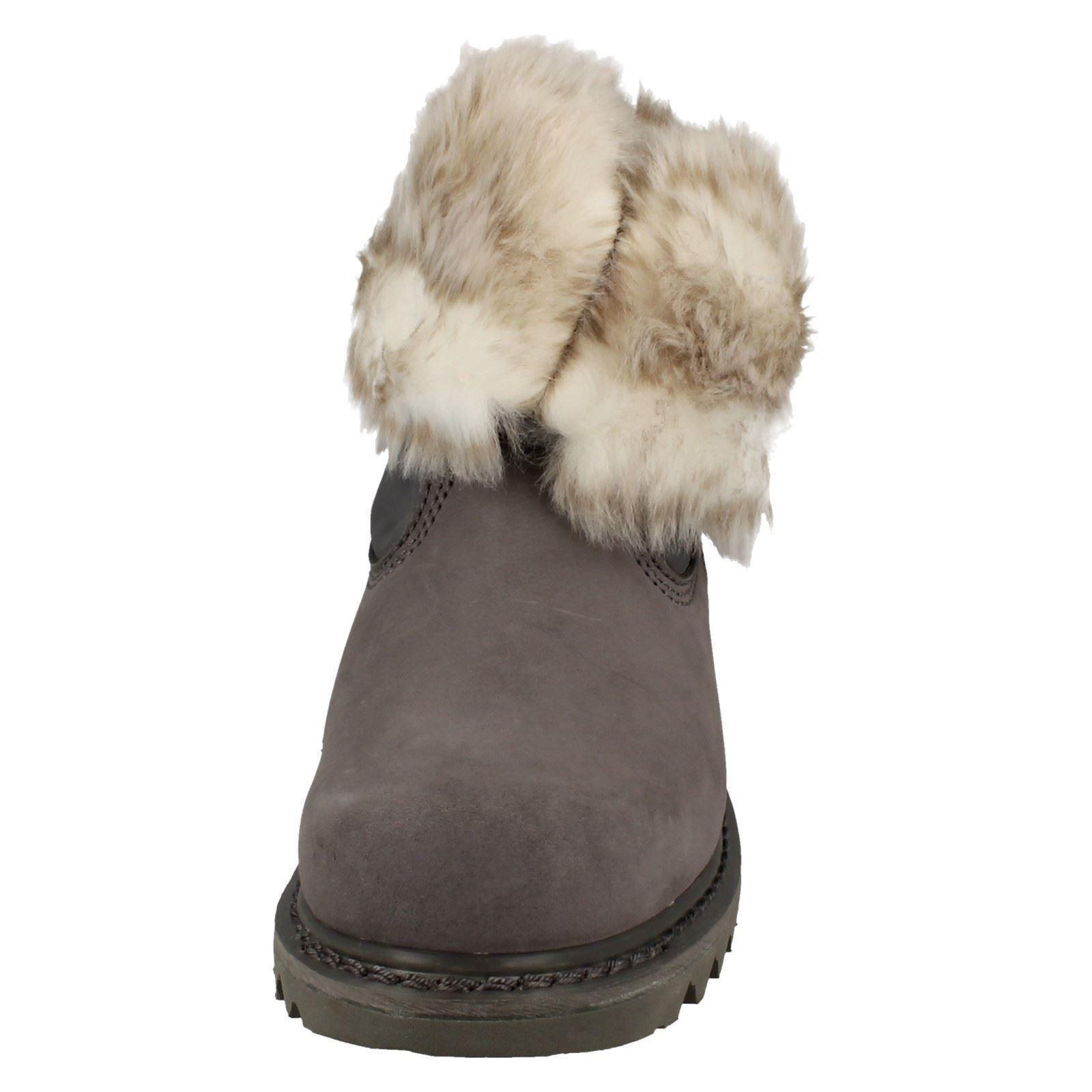 Zapatos especiales con descuento Ladies Caterpillar Wide Fit Warm Fur Boots Bruiser Scrunch Fur Label ~ K