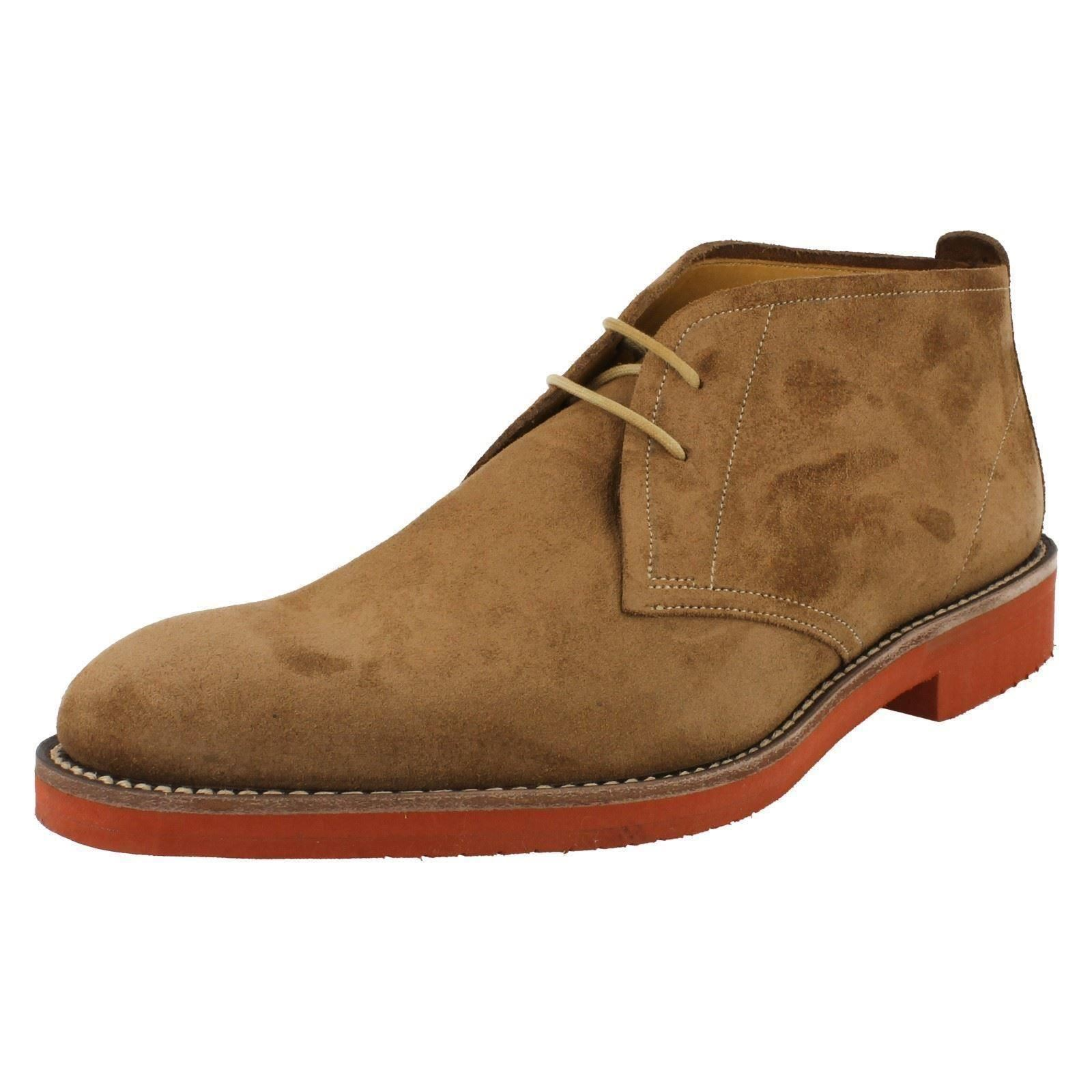 Herren Loake Braun Oiled Suede Casual Lace Up Ankle Stiefel Lennox 9215b0