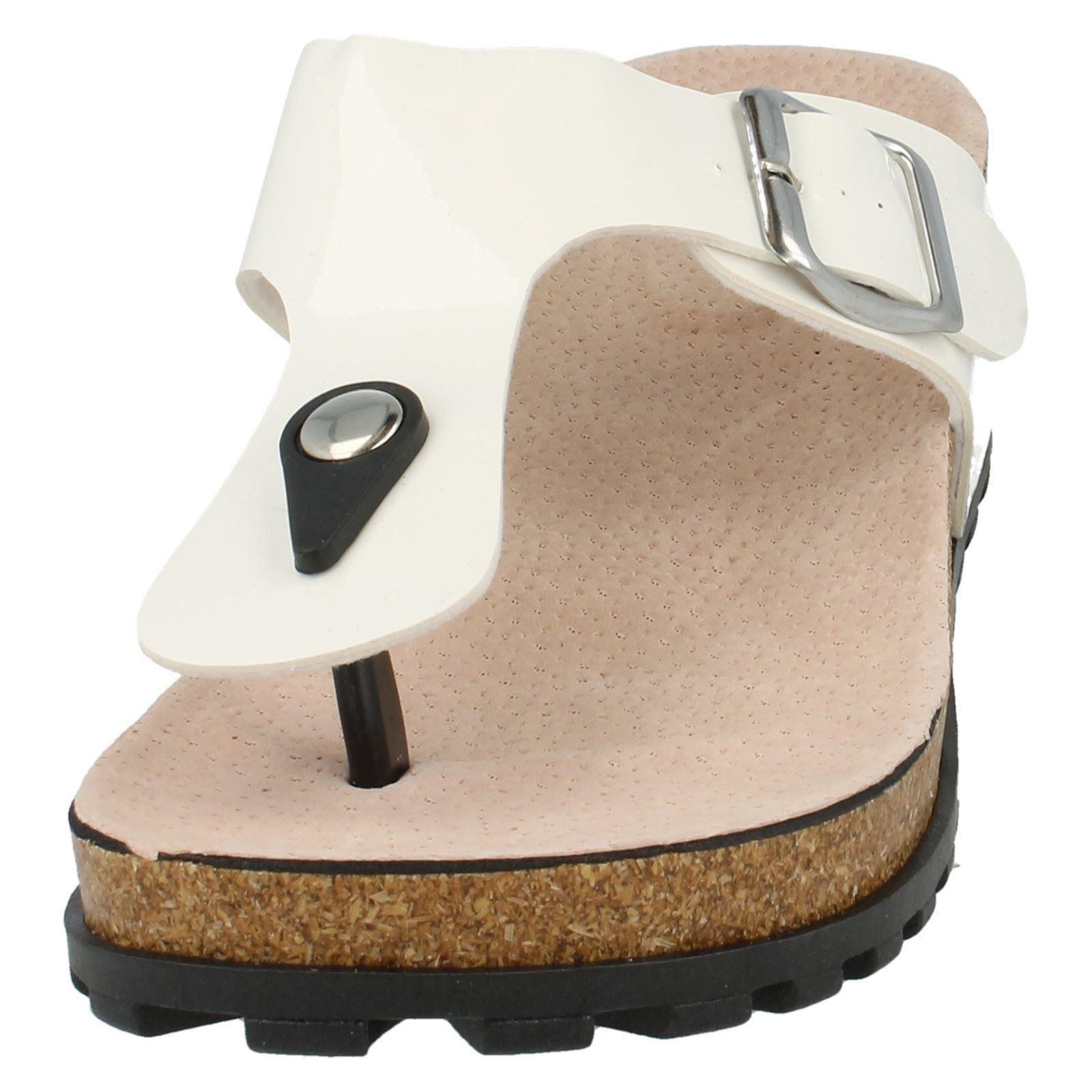 Verano señoras Slip On Cuña Mule con hebilla de punto en etiqueta-F10291