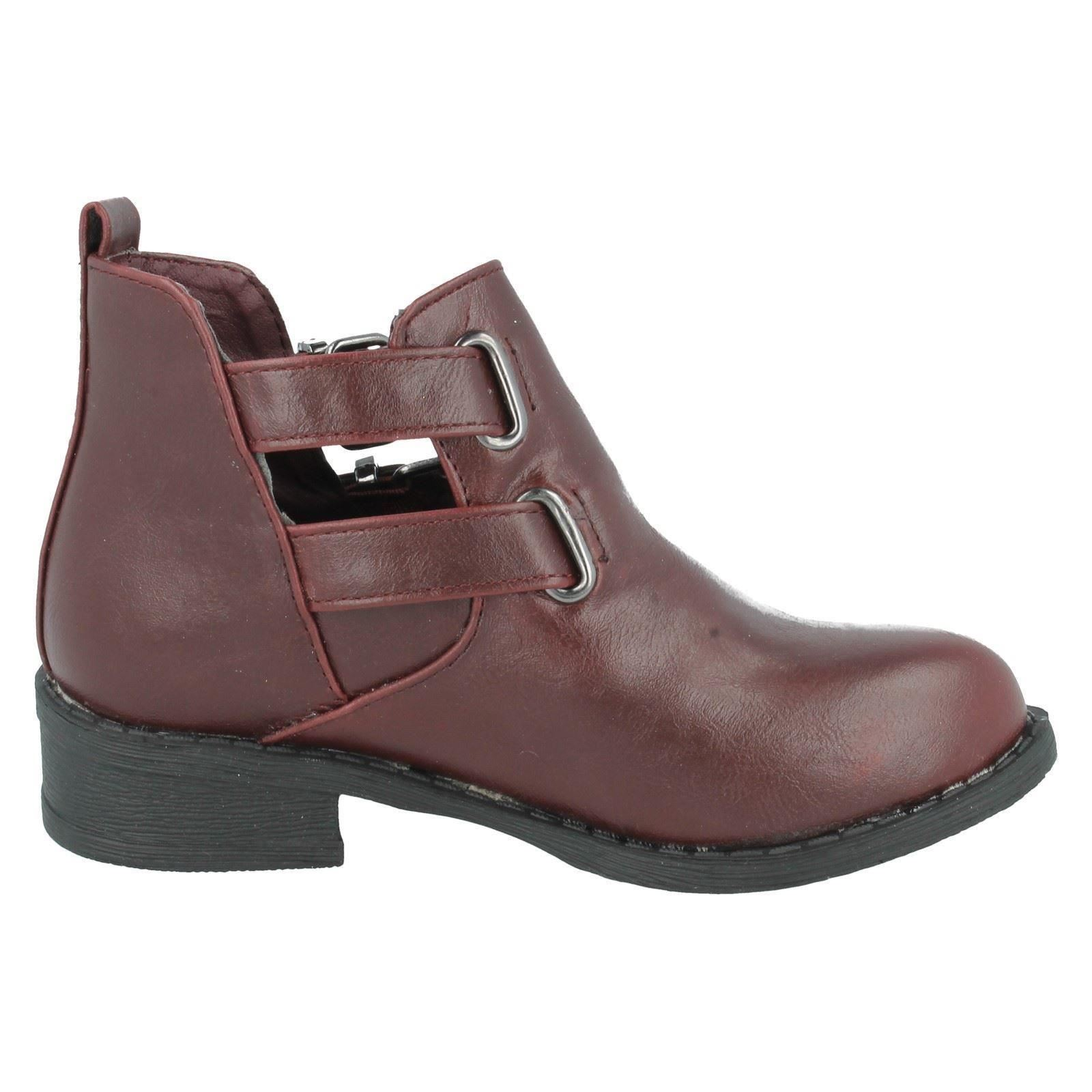 Girls Spot On Ankle Boots Style - H5035