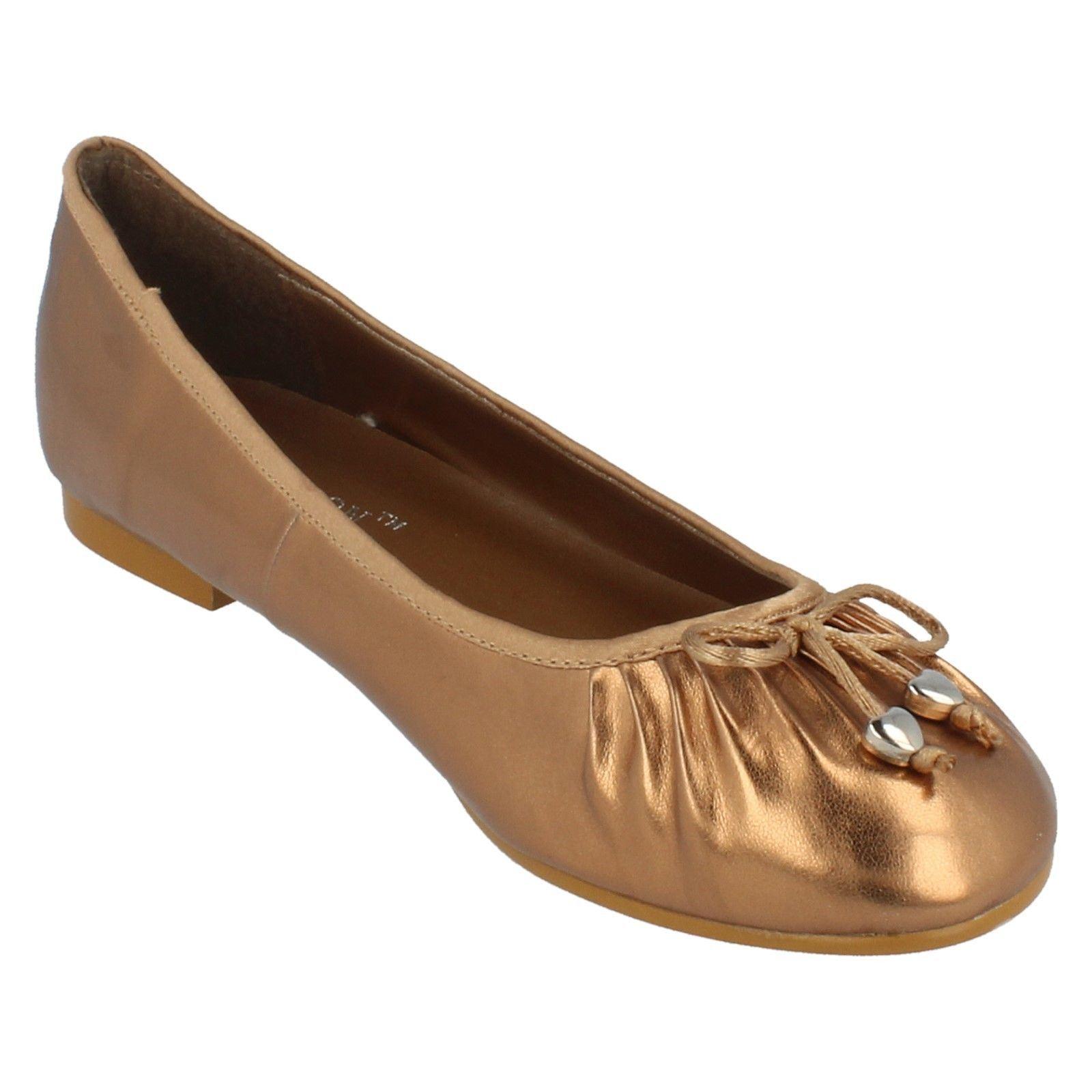 Damas Spot on Flat Zapatos Estilo JUL917 ~ N