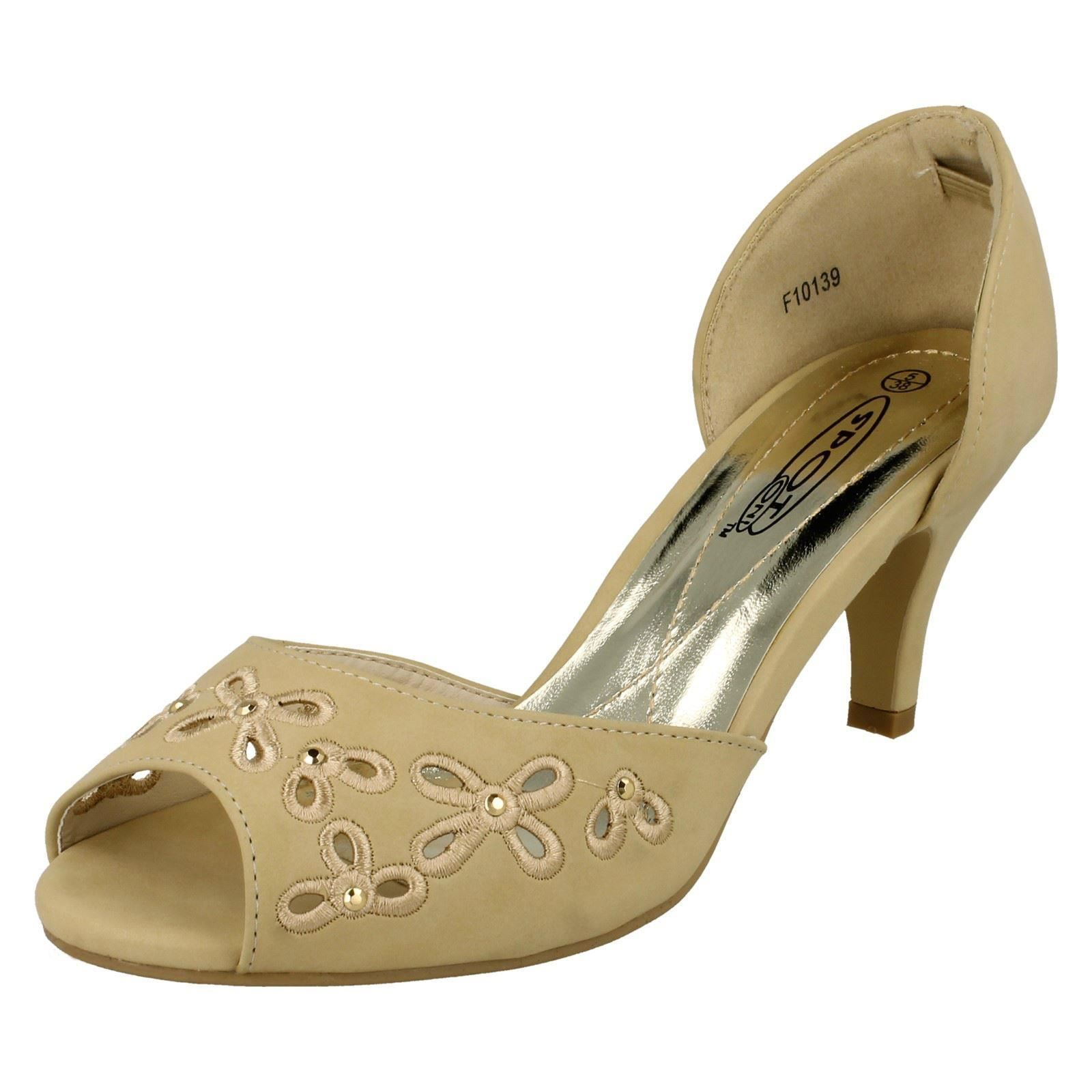 Damas Spot On Sandalias De Estilo F10139