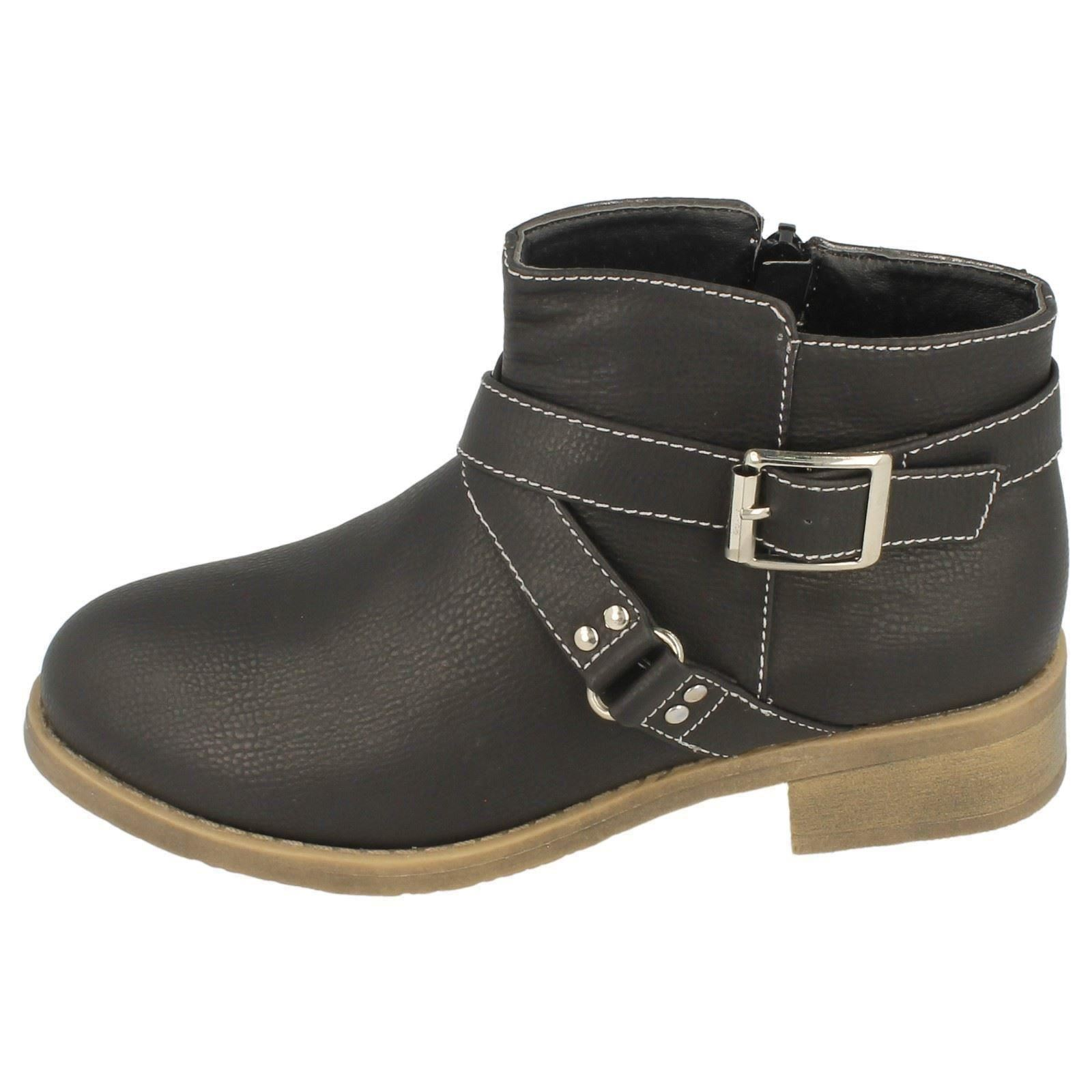 Girls Spot On H5034 Casual Ankle Boots The Style ~ K