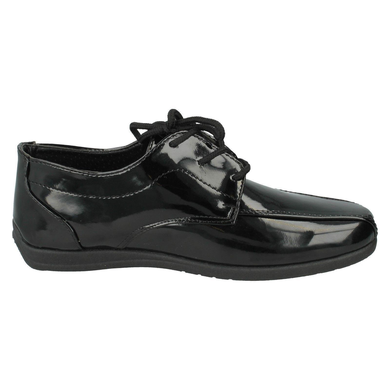 Boys JCDees N1110 School Shoes Label ~ K