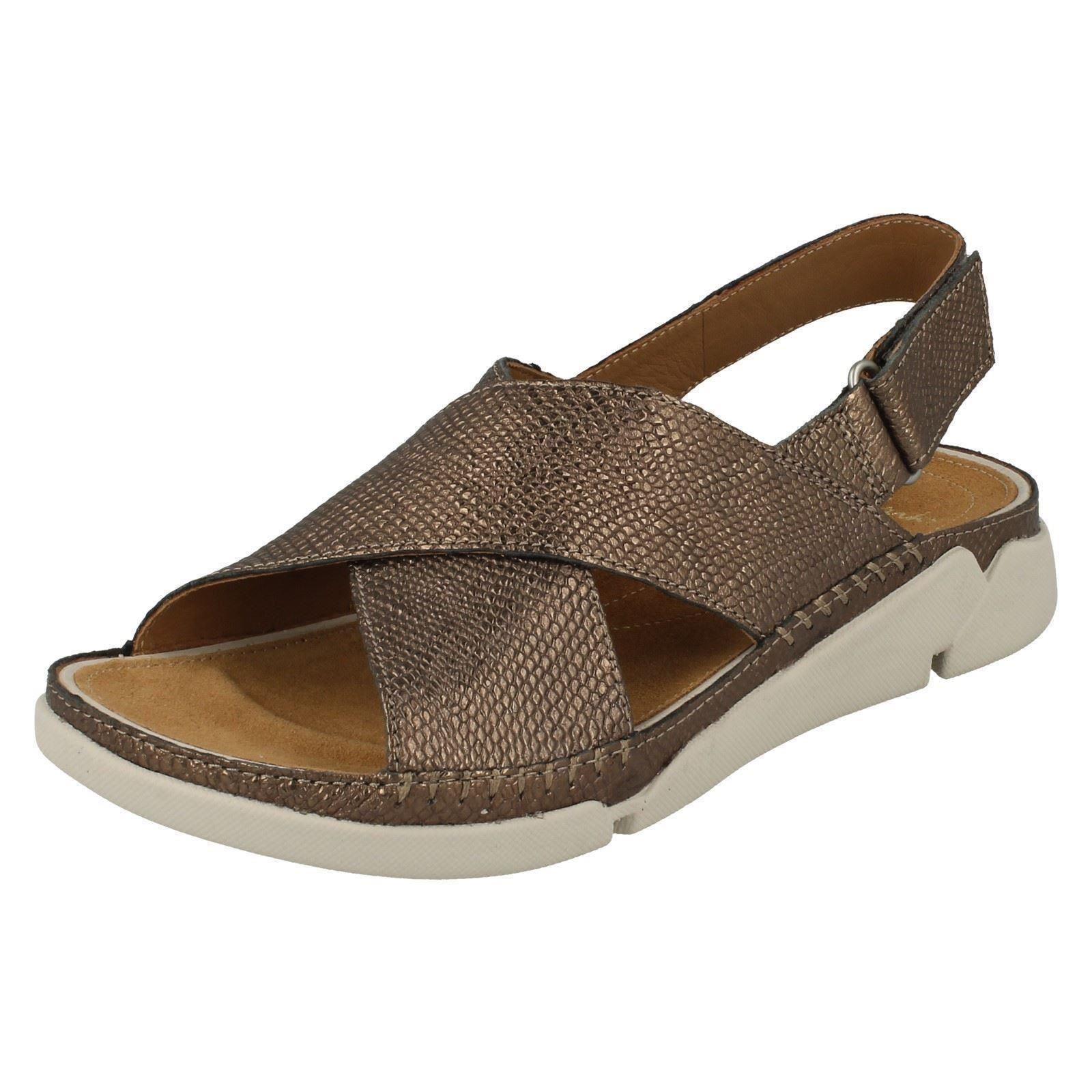 clarks open toe casual sandals label tri alexia