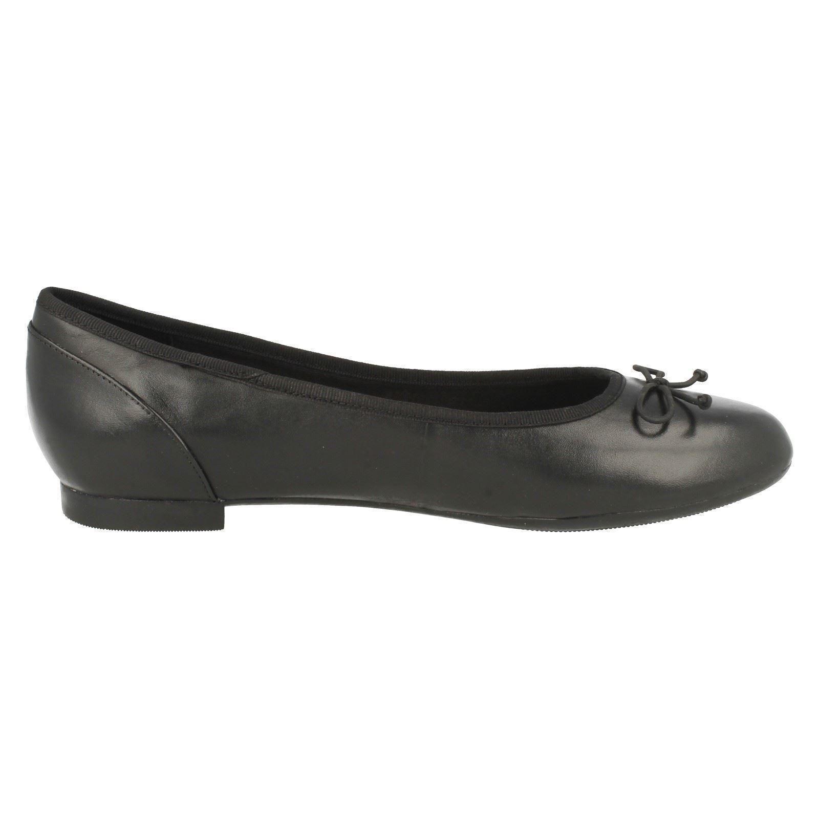 Damas Clarks Ballet Zapatos sin Taco Sin el estilo-Couture Bloom