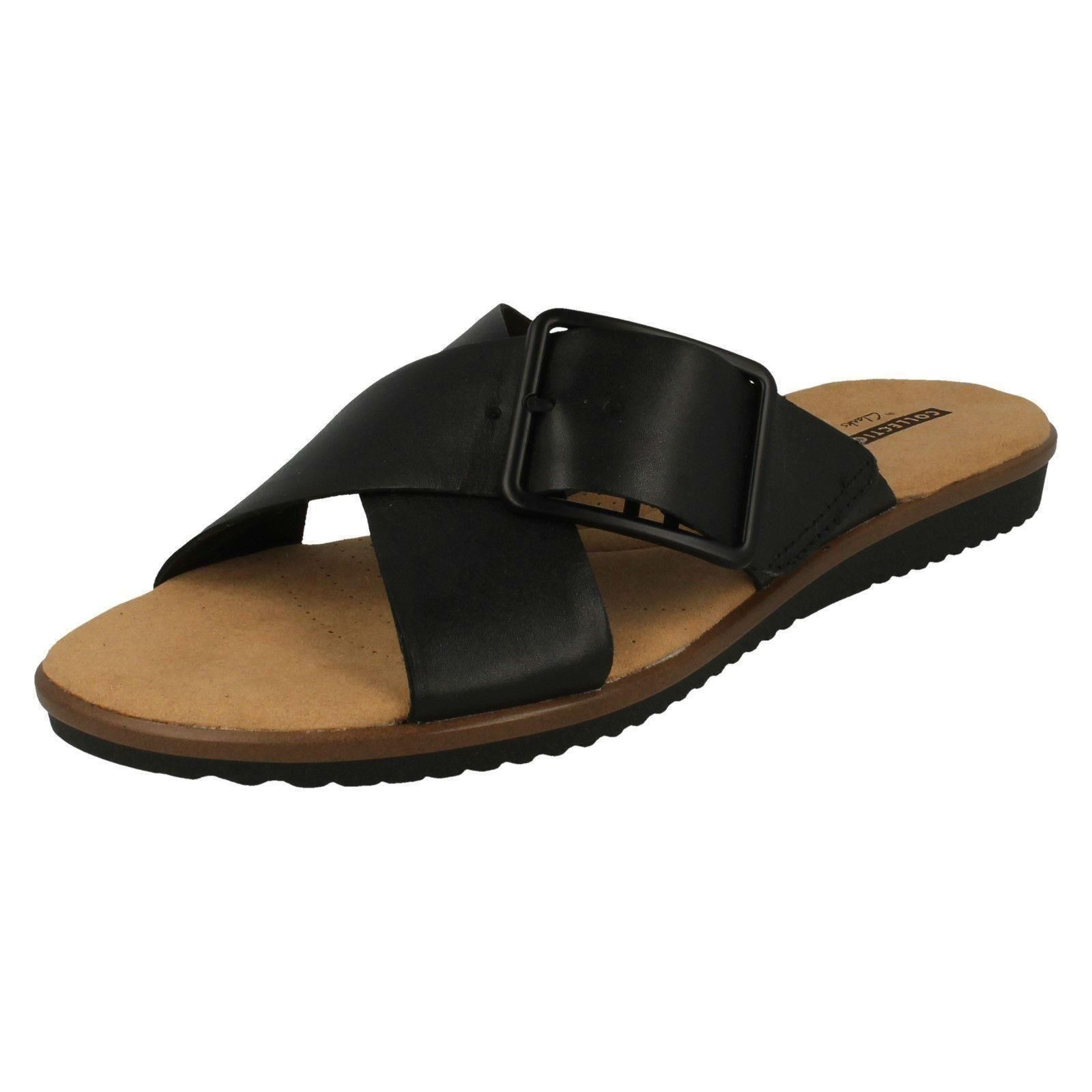 dccf3244cad2 Clarks Kele Heather - Black Leather Womens Sandals 4 UK. About this  product. Picture 1 of 8  Picture 2 of 8 ...