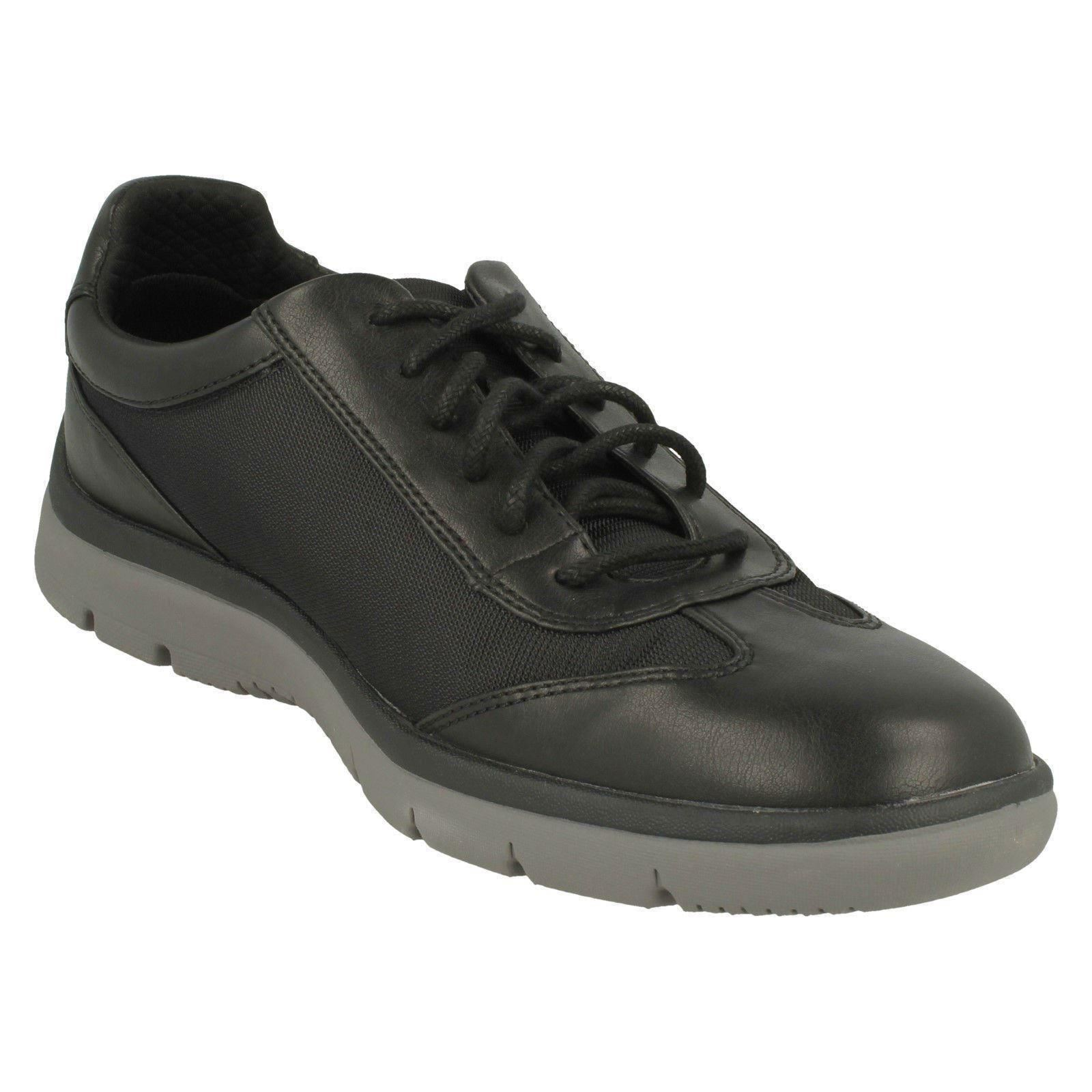 Lace Mens Casual Tunsil Trainers Shoes Up Clarks By Ridge Cloudsteppers Black wOqS1