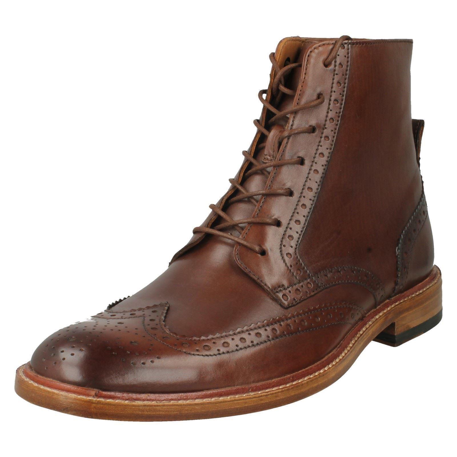 Uomo Uomo Uomo Clarks Leder Lace Up Brogue Ankle Stiefel Style -  James Hi f1833e