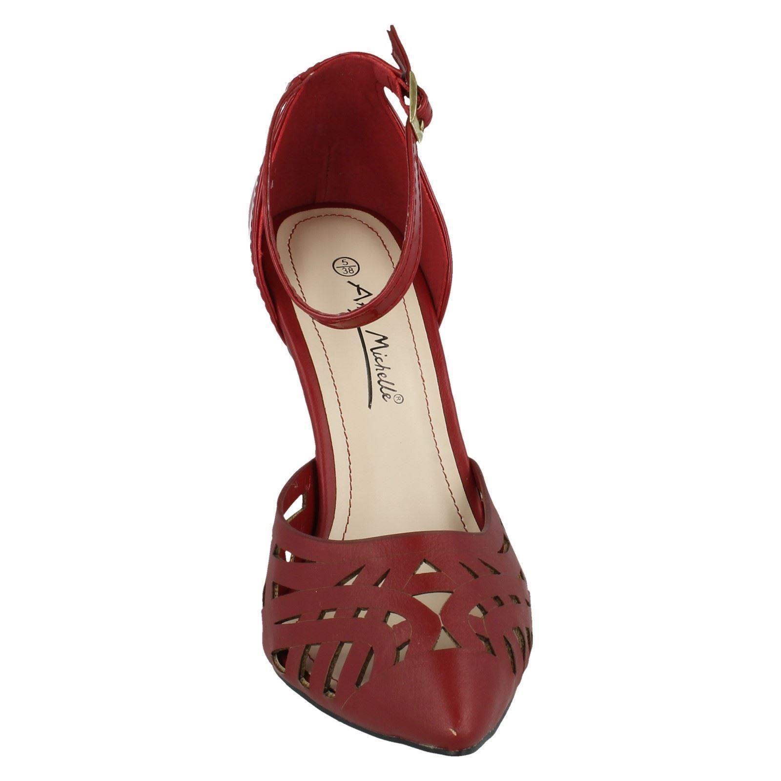 Señoras Anne Michelle correa de tobillo Zapatos Estilo-l2281