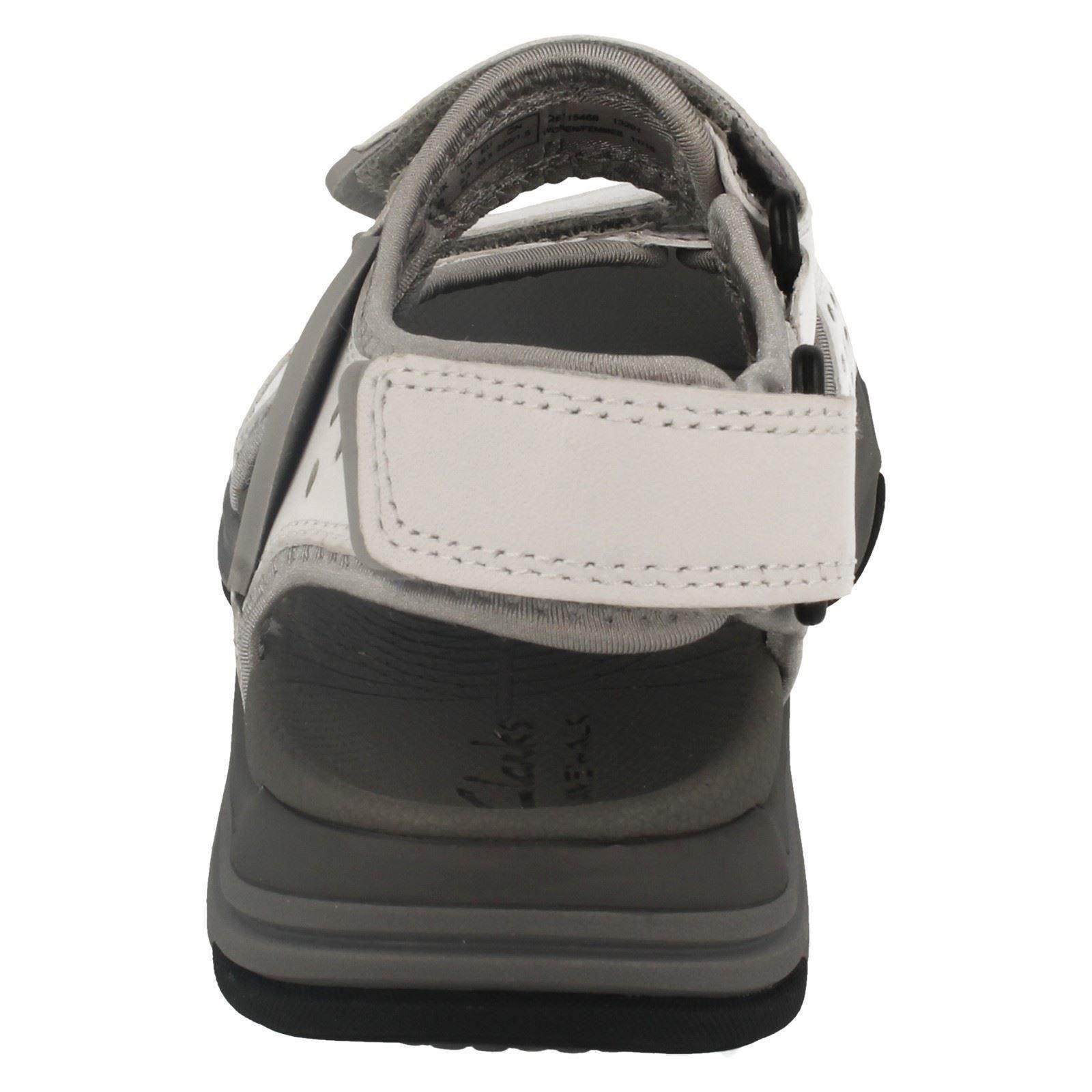 Señoras Clarks De Cuero Correa De Velcro Casual Sandalias Etiqueta Ola-Presto