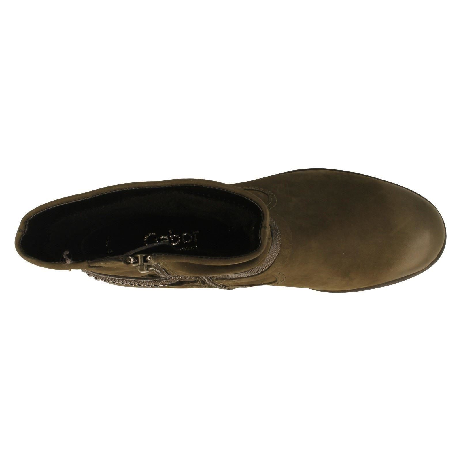 Señoras Gabor Cálido Forrado botín estilo 32.781 - W