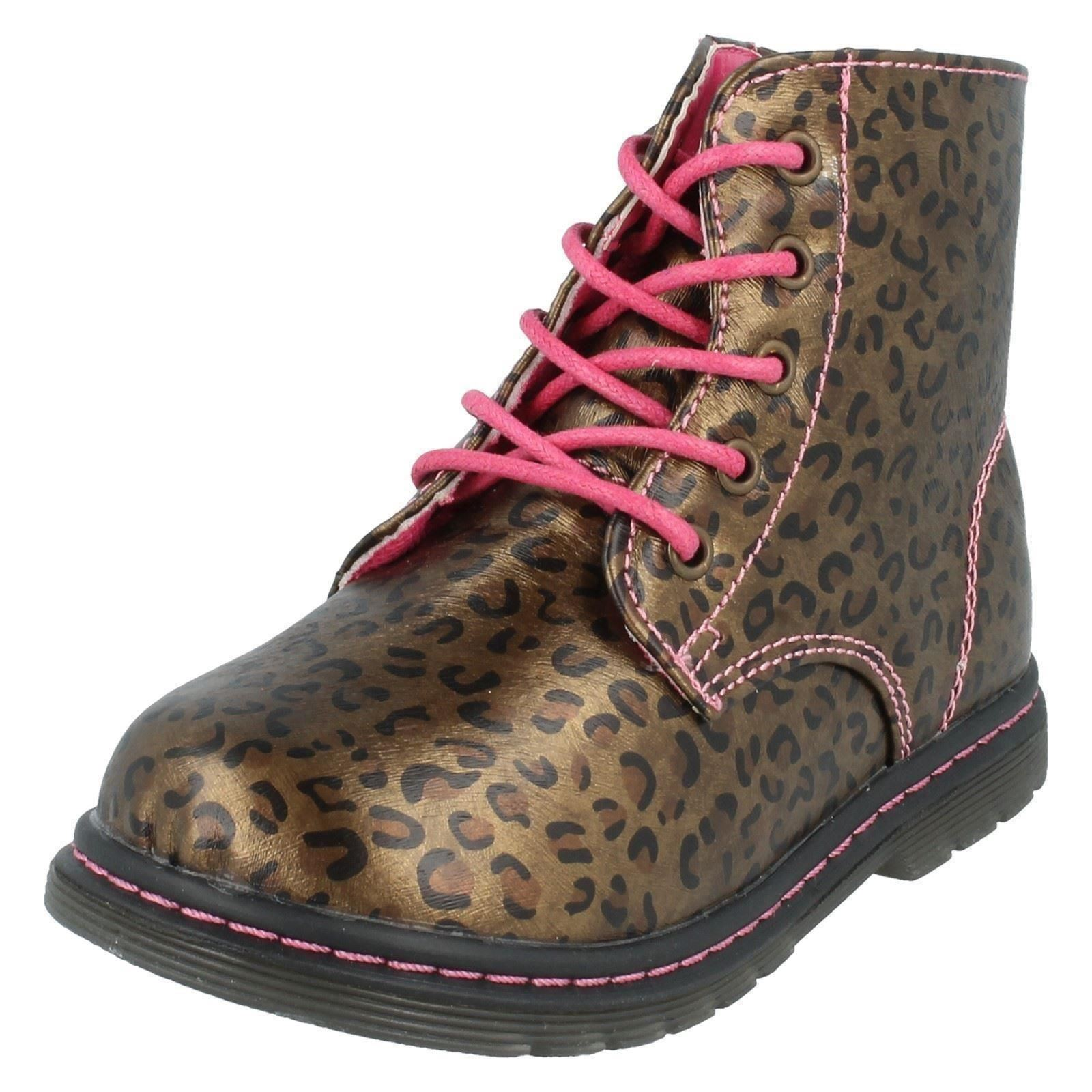 Girls Spot On Ankle Boots Infant Label H4109