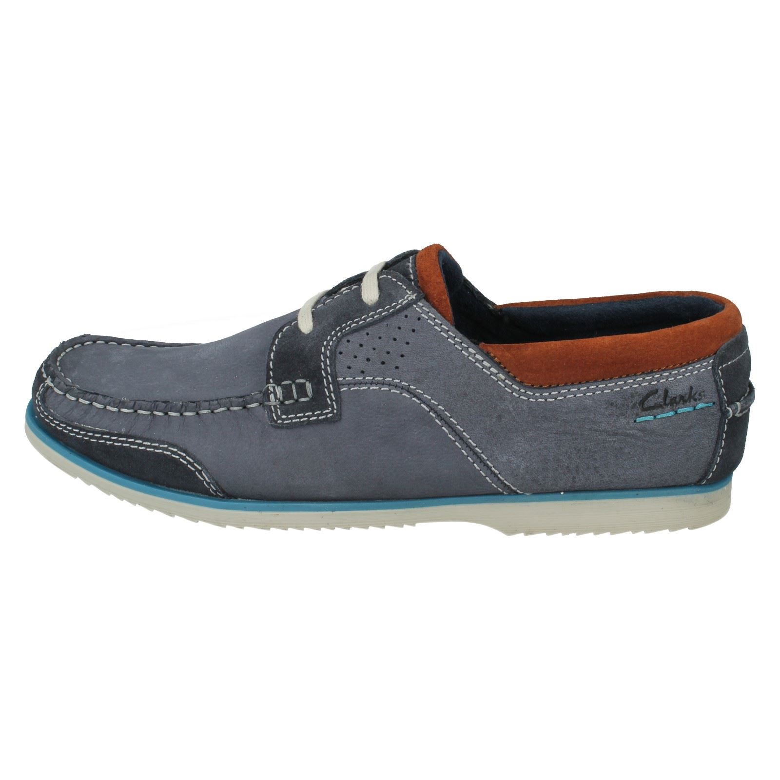 Mens Clarks Boat Shoes Style Kendrick Sail W Ebay