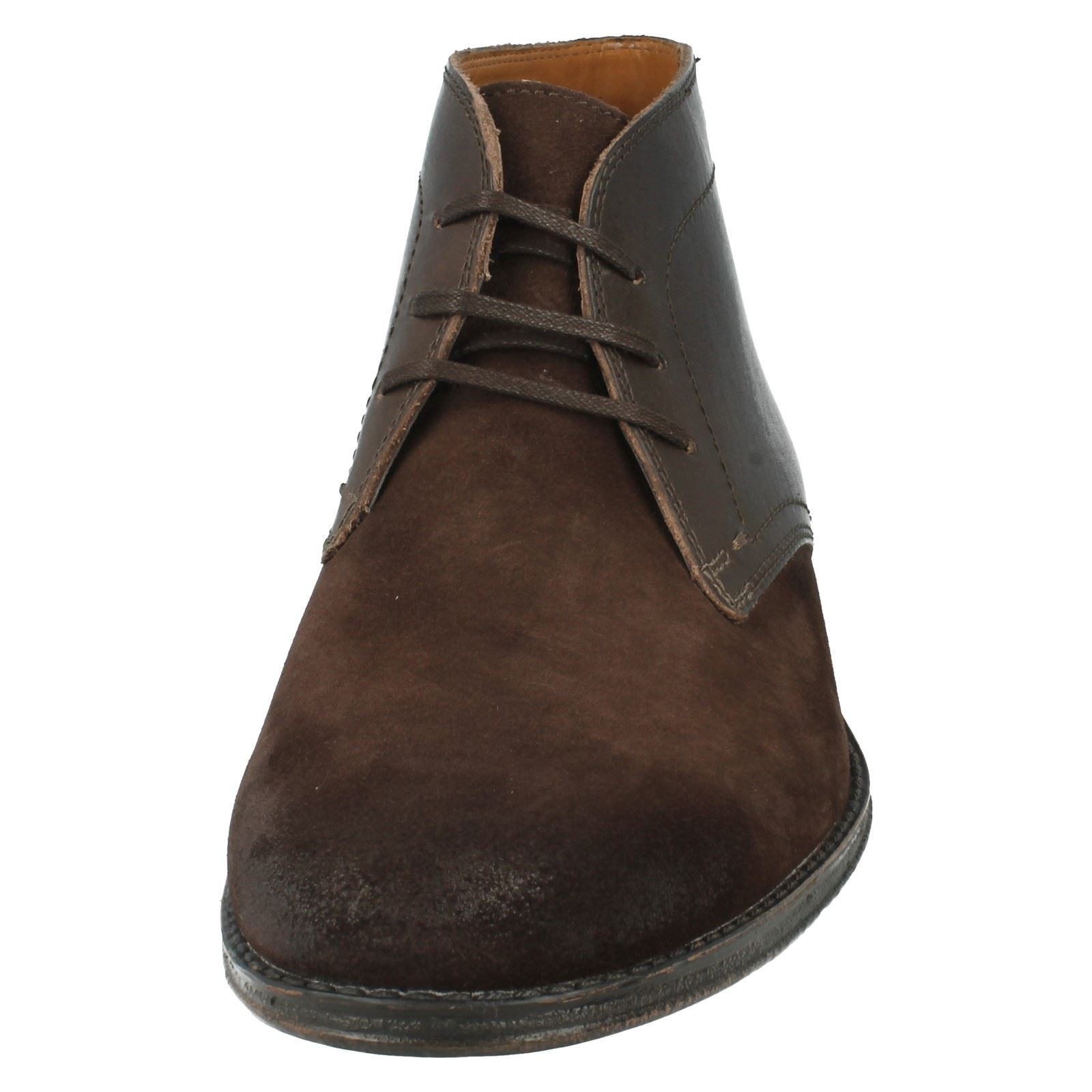 Mens Clarks Smart Leather Boots The Style -  Hawkley Rise