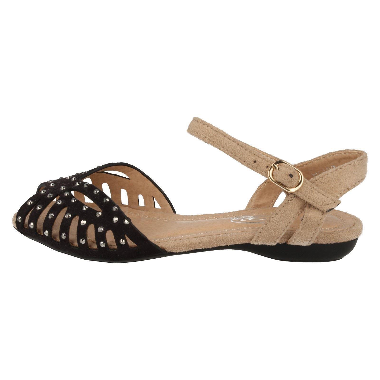 Niñas Spot on Peep Toe Sandalias Etiqueta H0123-D