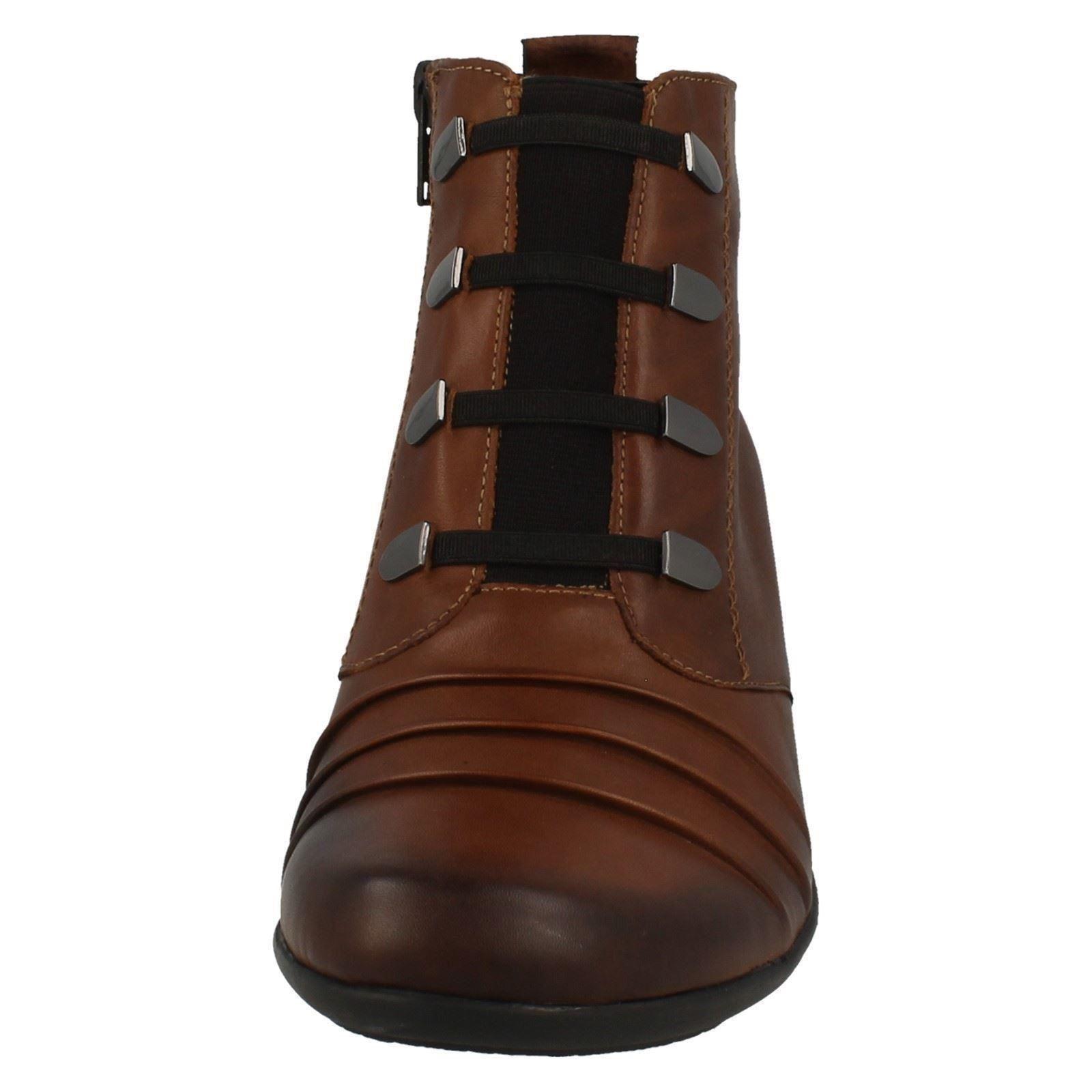 Damas REMONTE botas botas REMONTE al Tobillo Etiqueta D7381 81999d