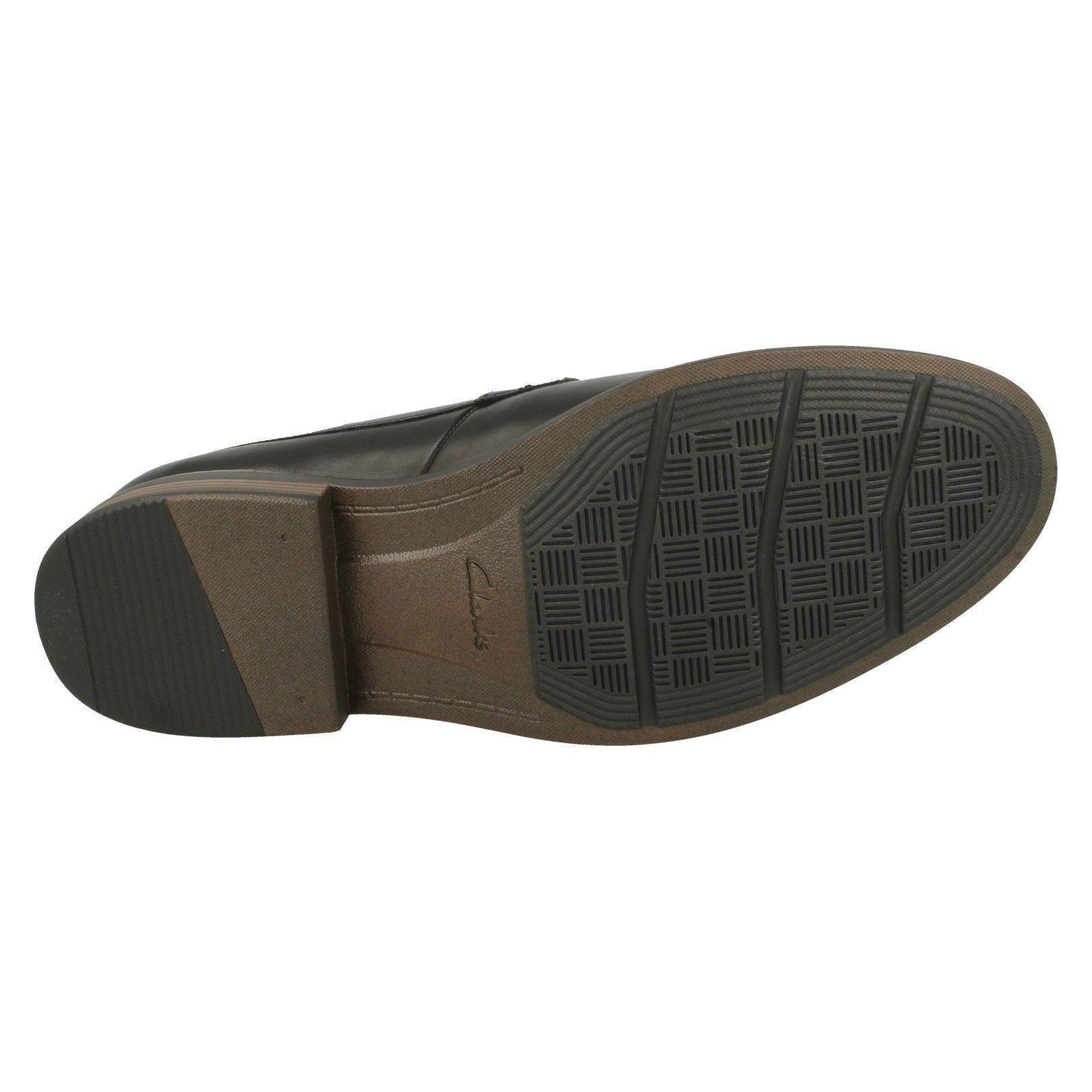 Uomo Smart Clarks Lace Up Leder Smart Uomo Toe Cap Schuhes The Style - Becken Cap d7f351