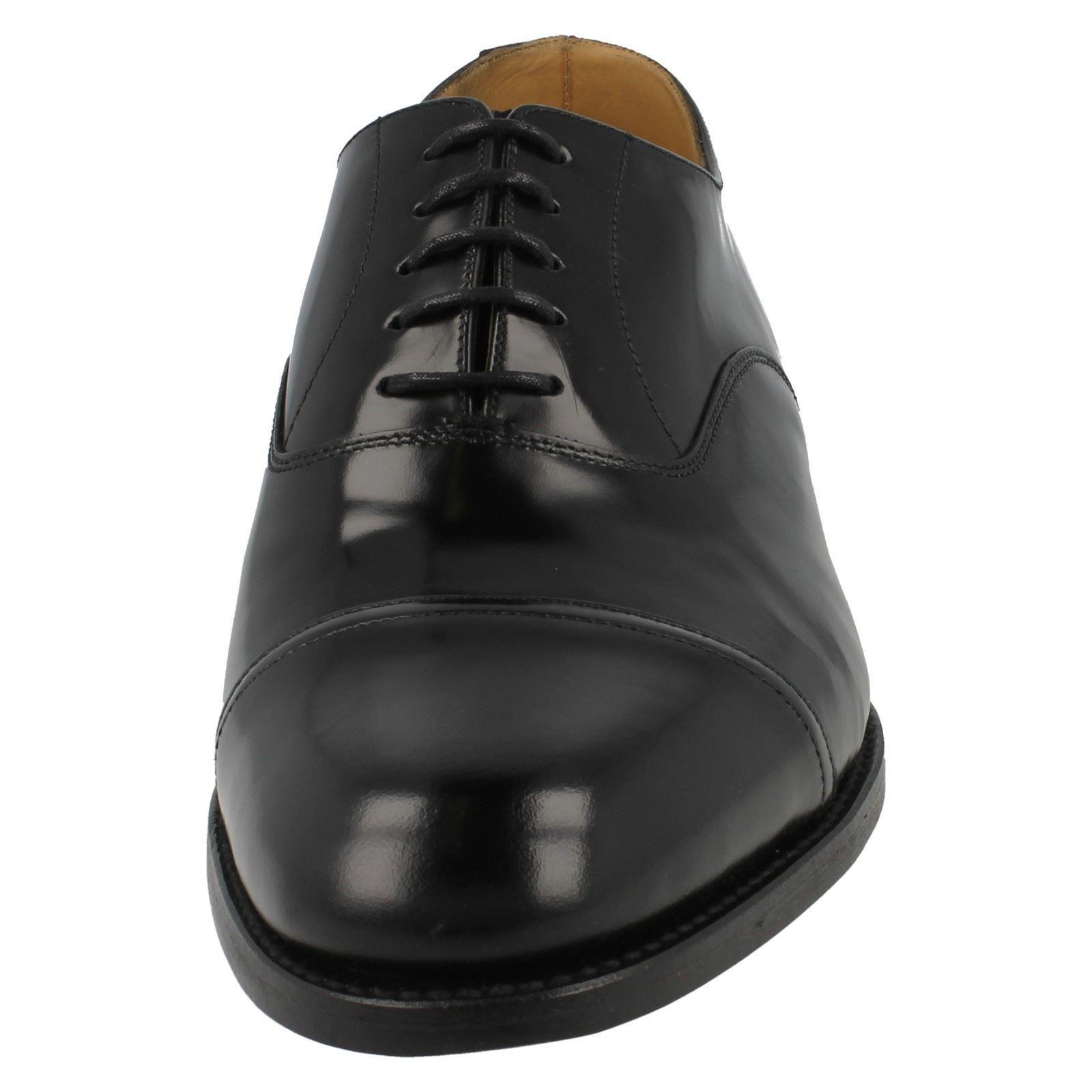 Toe Cap Up Classic Elland Black Oxford Lace Smart Shoes Loake Leather Mens Style 0FWfYqU0