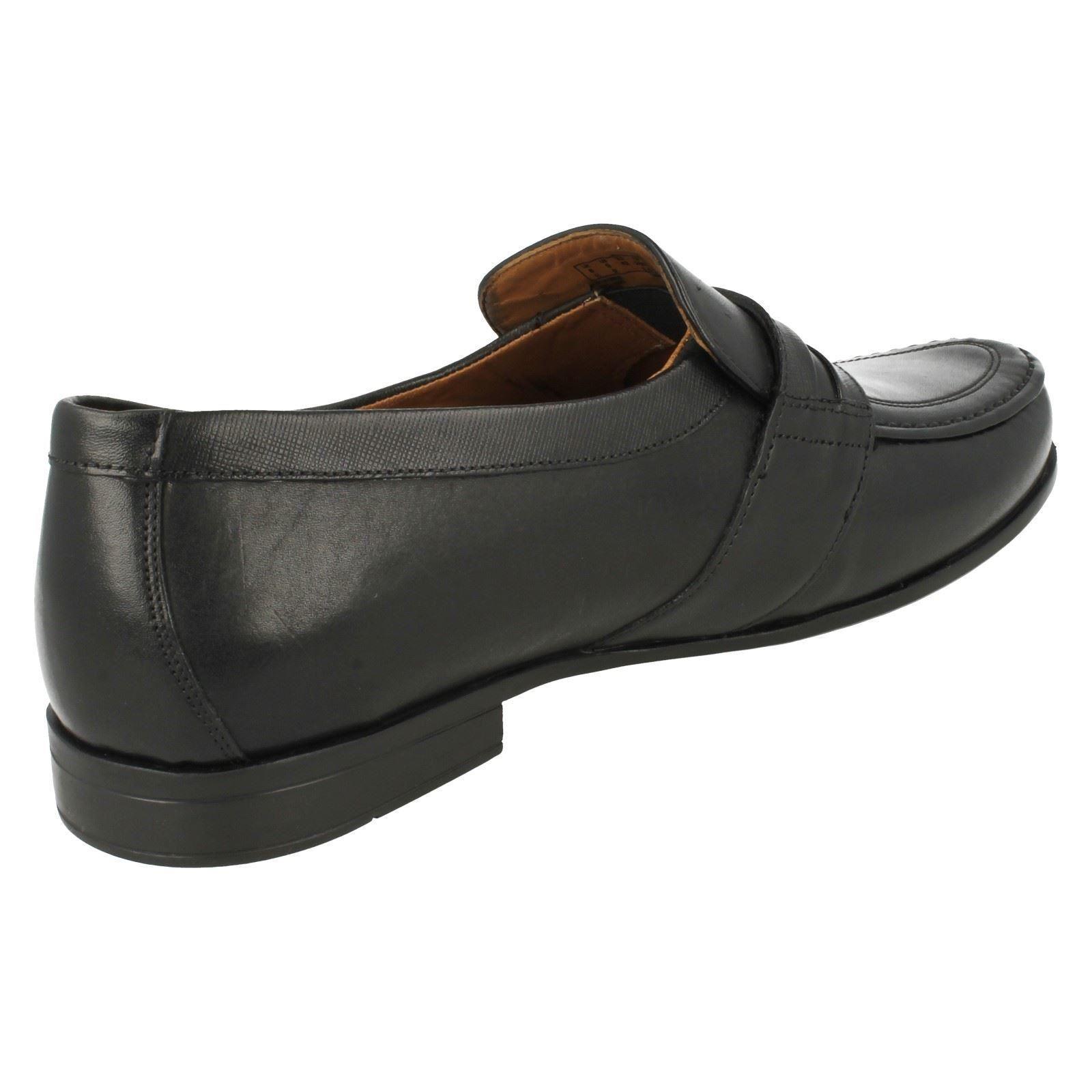 Men's Smart Shoes Aston Clarks Slip Style Leather On Black Claude HrR5Hwqx