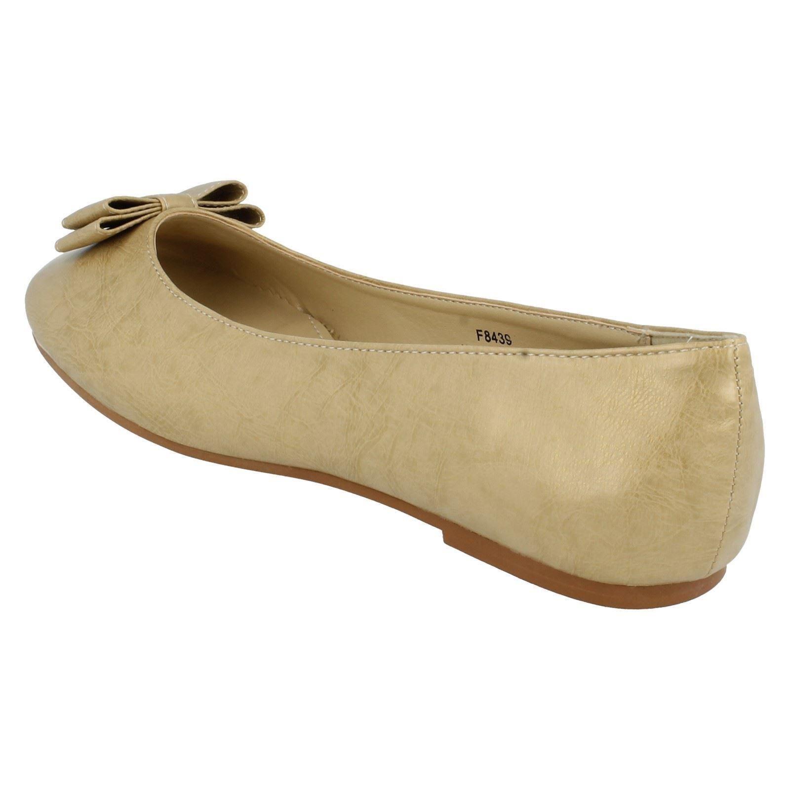 Señoras de punto en zapatos planos Etiqueta f8439