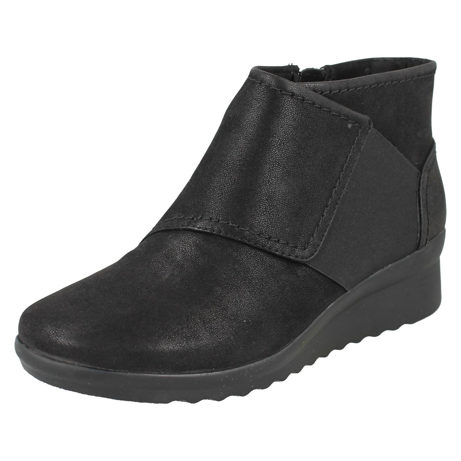 5d381a34fa11 Ladies Clarks Cloudsteppers Zip up Ankle BOOTS Caddell Rush Black UK 4.5 E.  About this product. Picture 1 of 9  Picture 2 of 9 ...