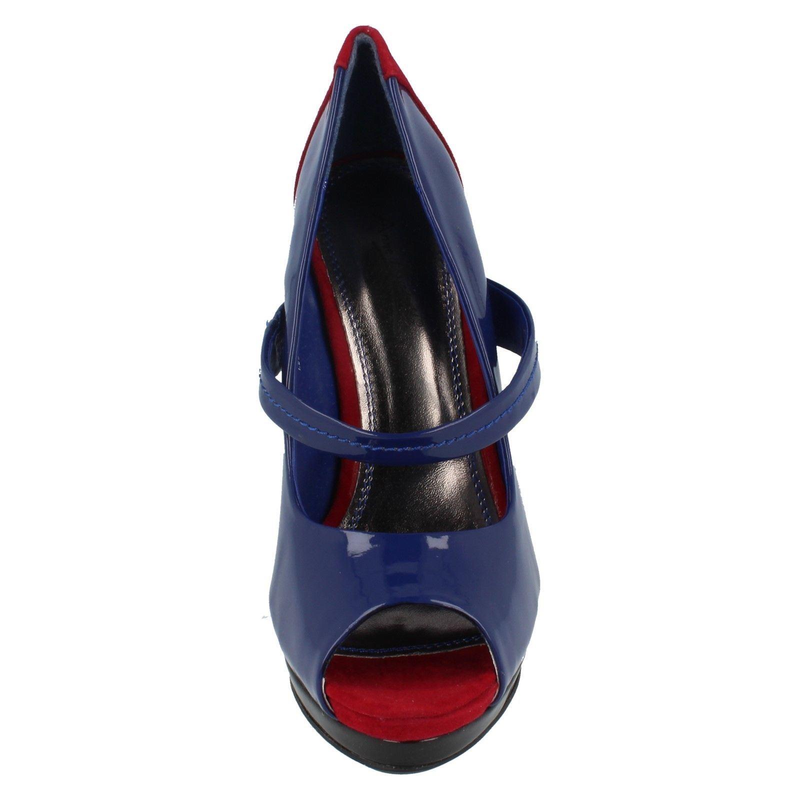 Damas Anne Michelle Punta Abierta Zapatos Etiqueta L2973 ~ N