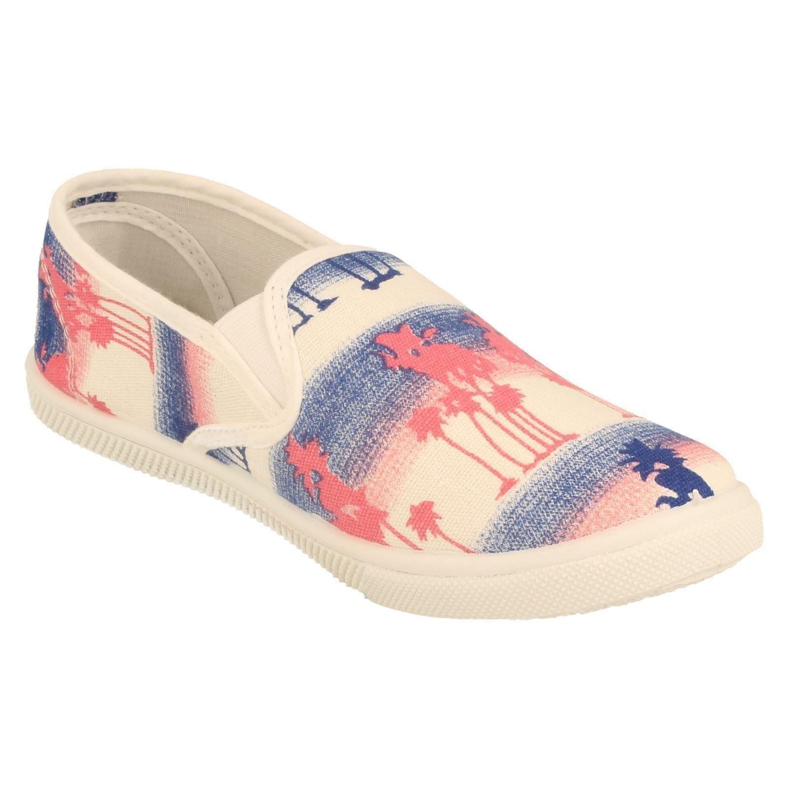 Niñas Spot on Zapatos De Lona Estilo H2347-W