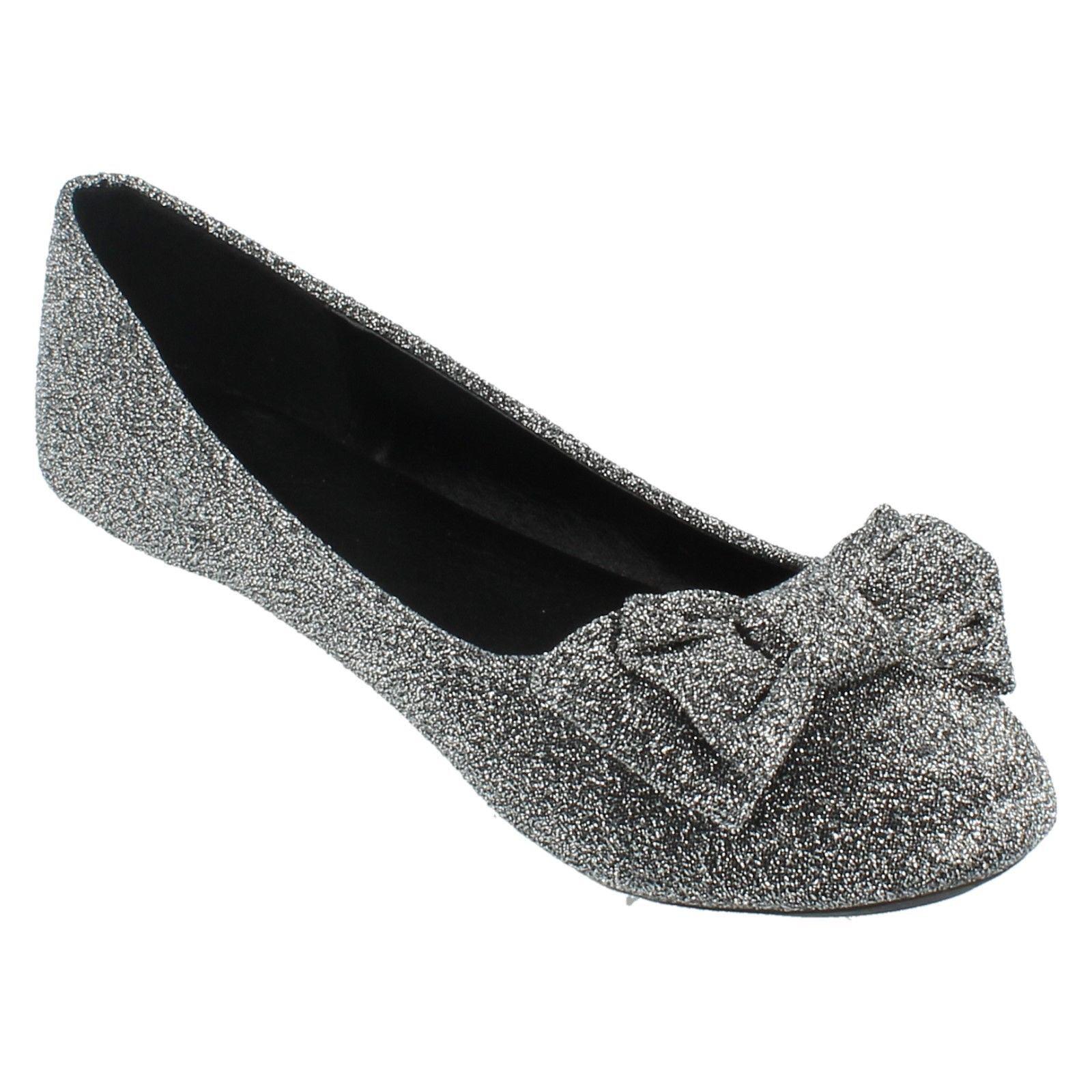 Damas Spot on F8858 Zapatos informales Brillo Bailarina Estilo ~ K