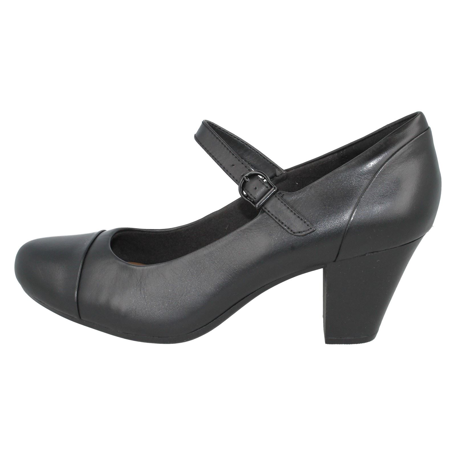Leather Ladies N Shoes Style Tianna Black Garnit ~ Clarks Court UPqz7